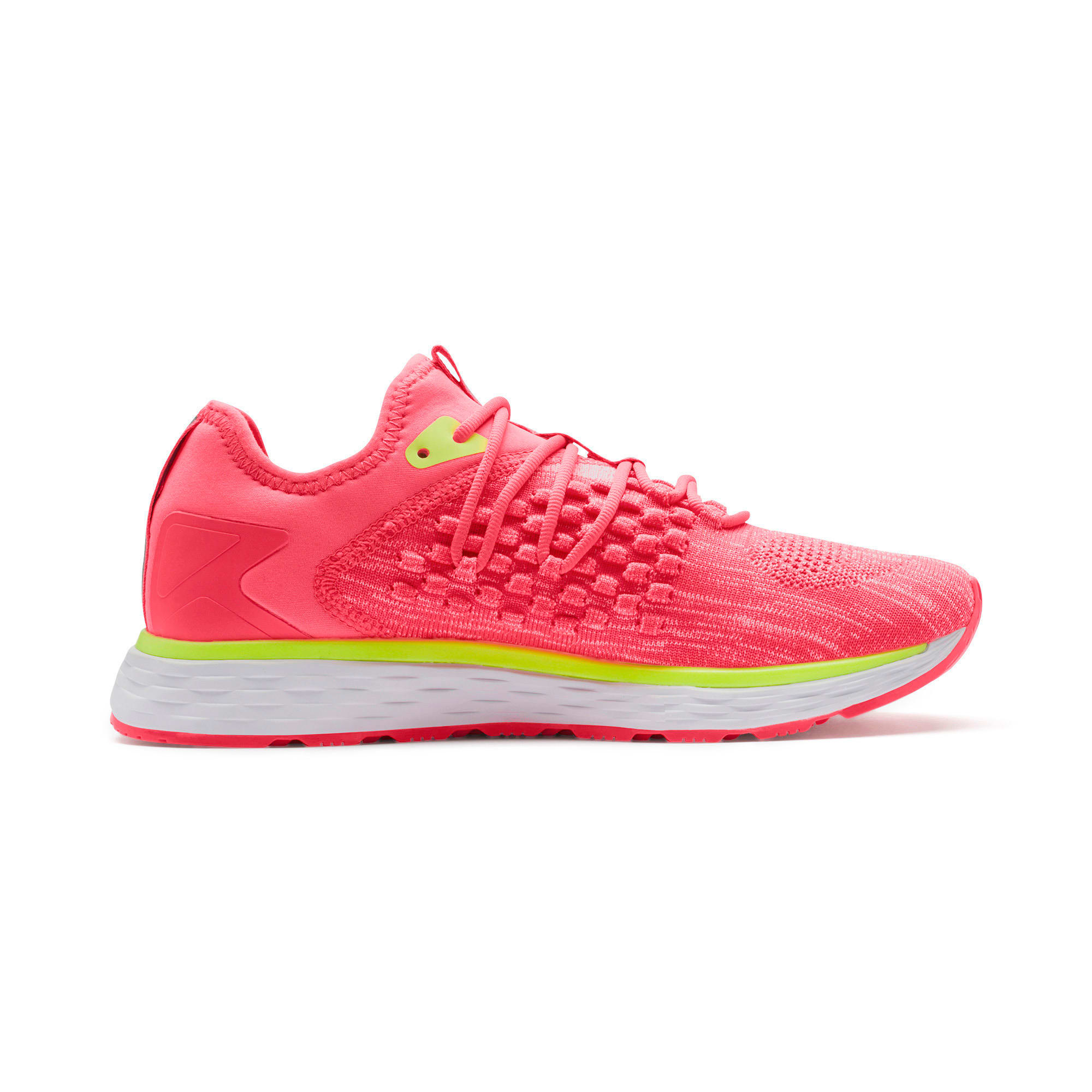 Thumbnail 6 of SPEED 600 FUSEFIT Women's Running Shoes, Pink Alert-Puma White, medium