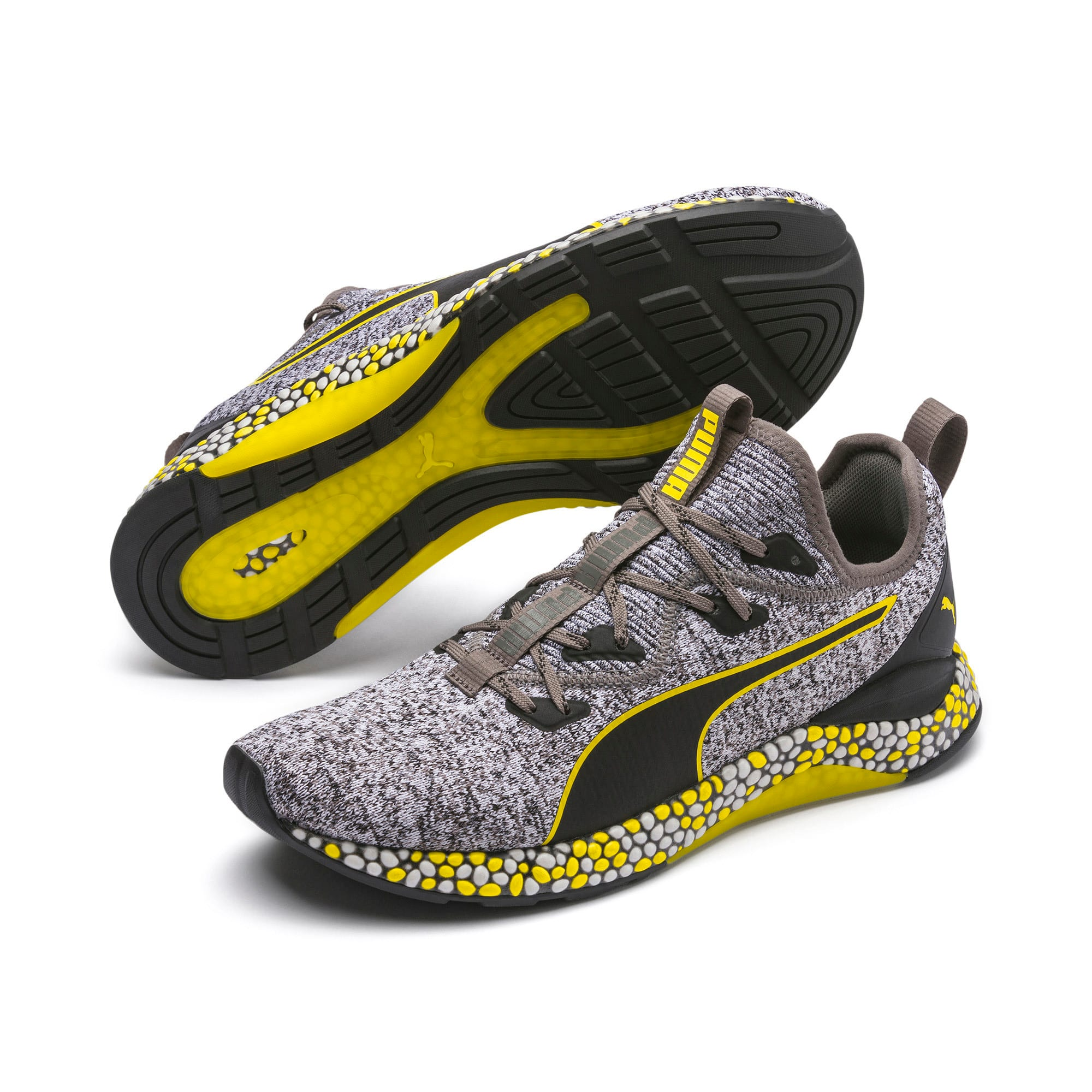 Thumbnail 2 of Hybrid Runner Men's Running Shoes, Black-White-Blazing Yellow, medium