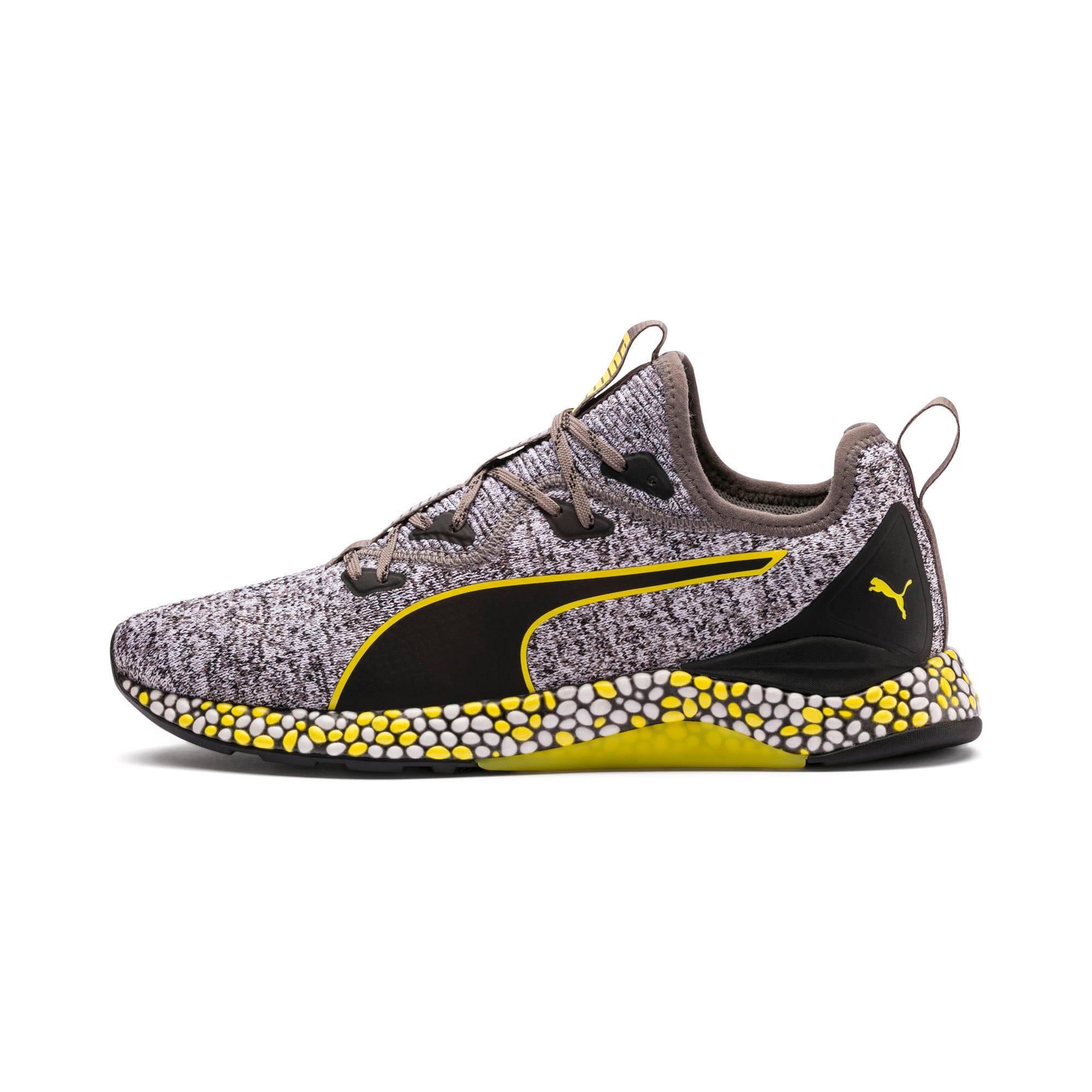Thumbnail 1 of Hybrid Runner Men's Running Shoes, Black-White-Blazing Yellow, medium