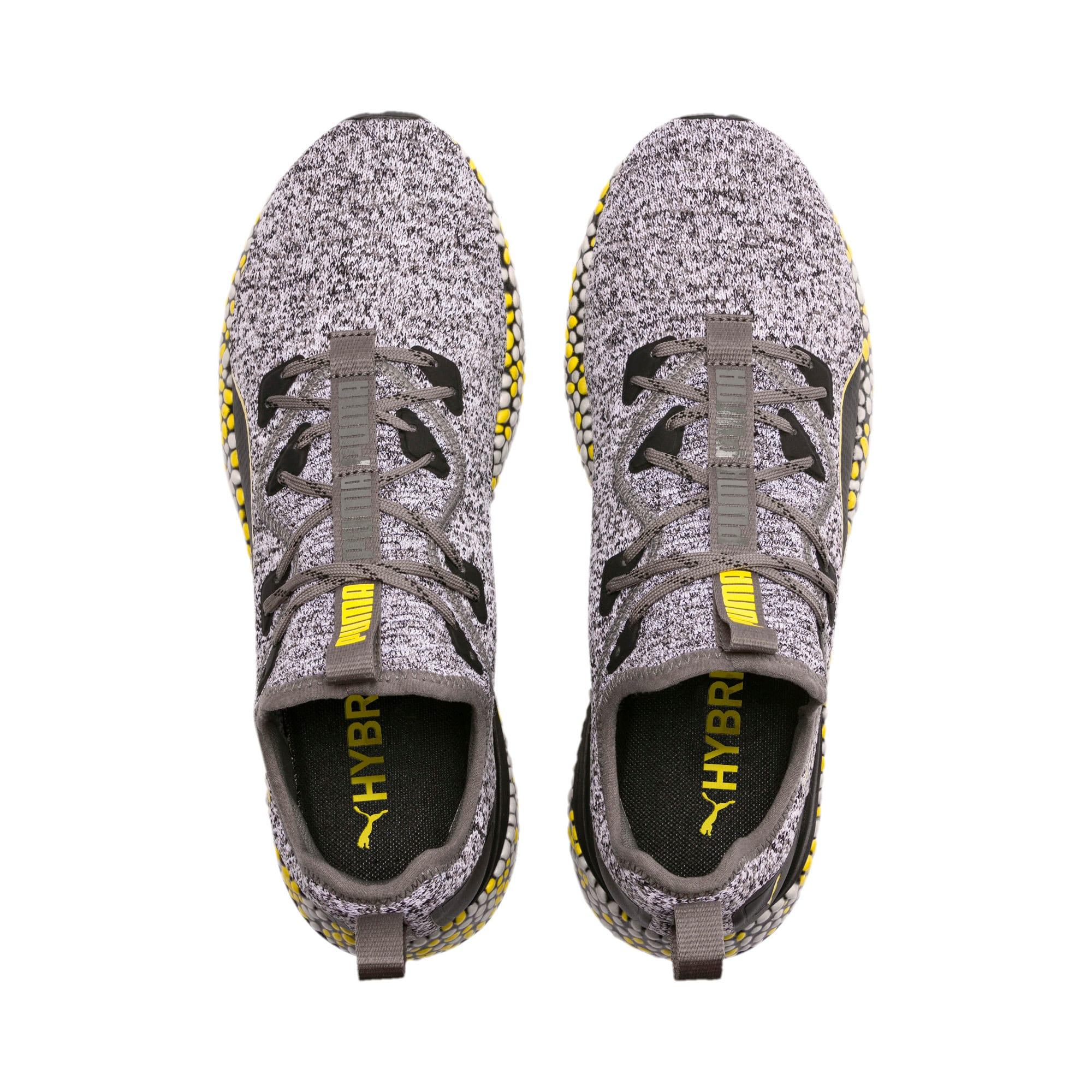 Thumbnail 6 of Hybrid Runner Men's Running Shoes, Black-White-Blazing Yellow, medium