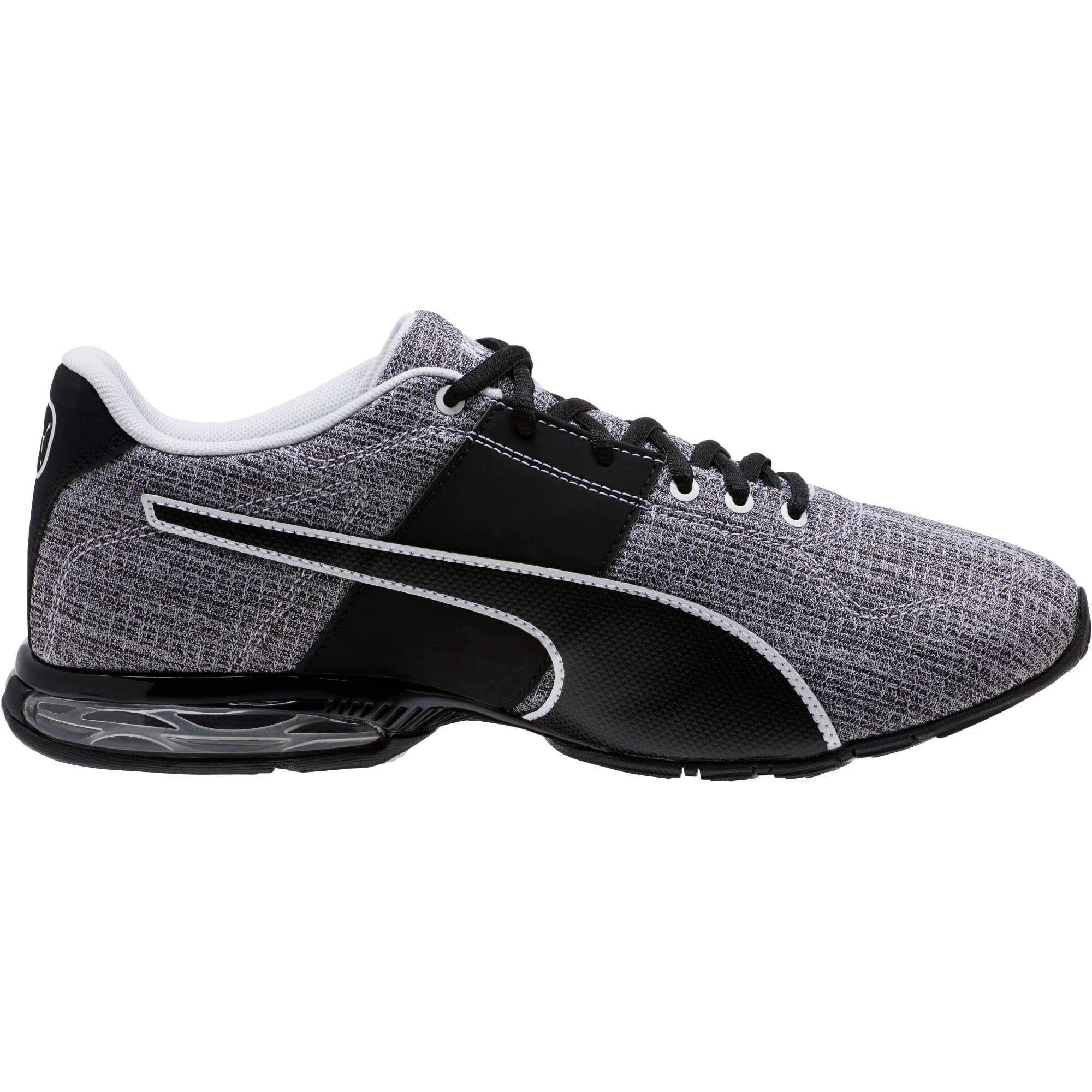 Thumbnail 3 of CELL Surin 2 Heather Men's Running Shoes, Puma Black-Puma White, medium