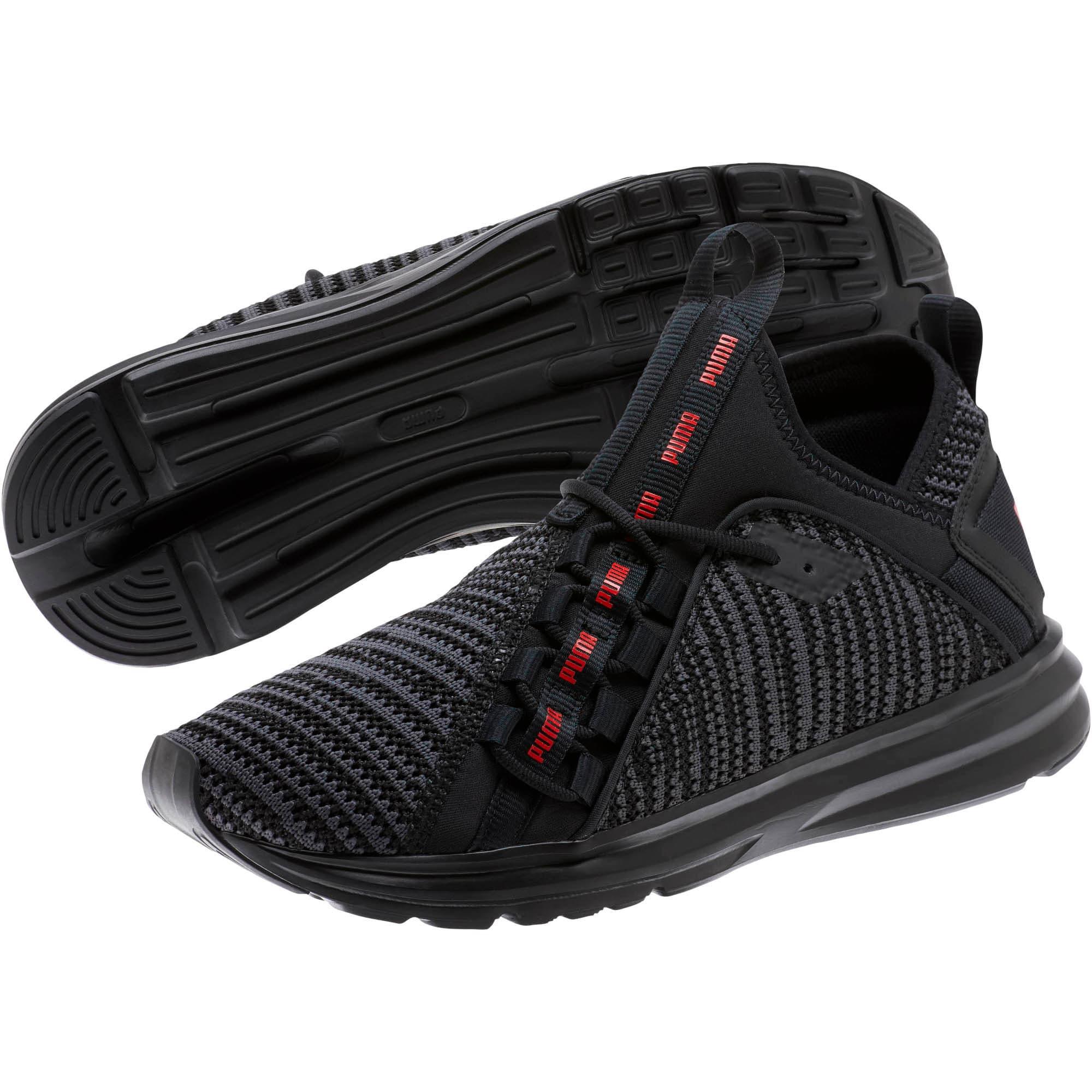 Thumbnail 2 of Enzo Peak Men's Sneakers, Black-Asphalt-High Risk Red, medium