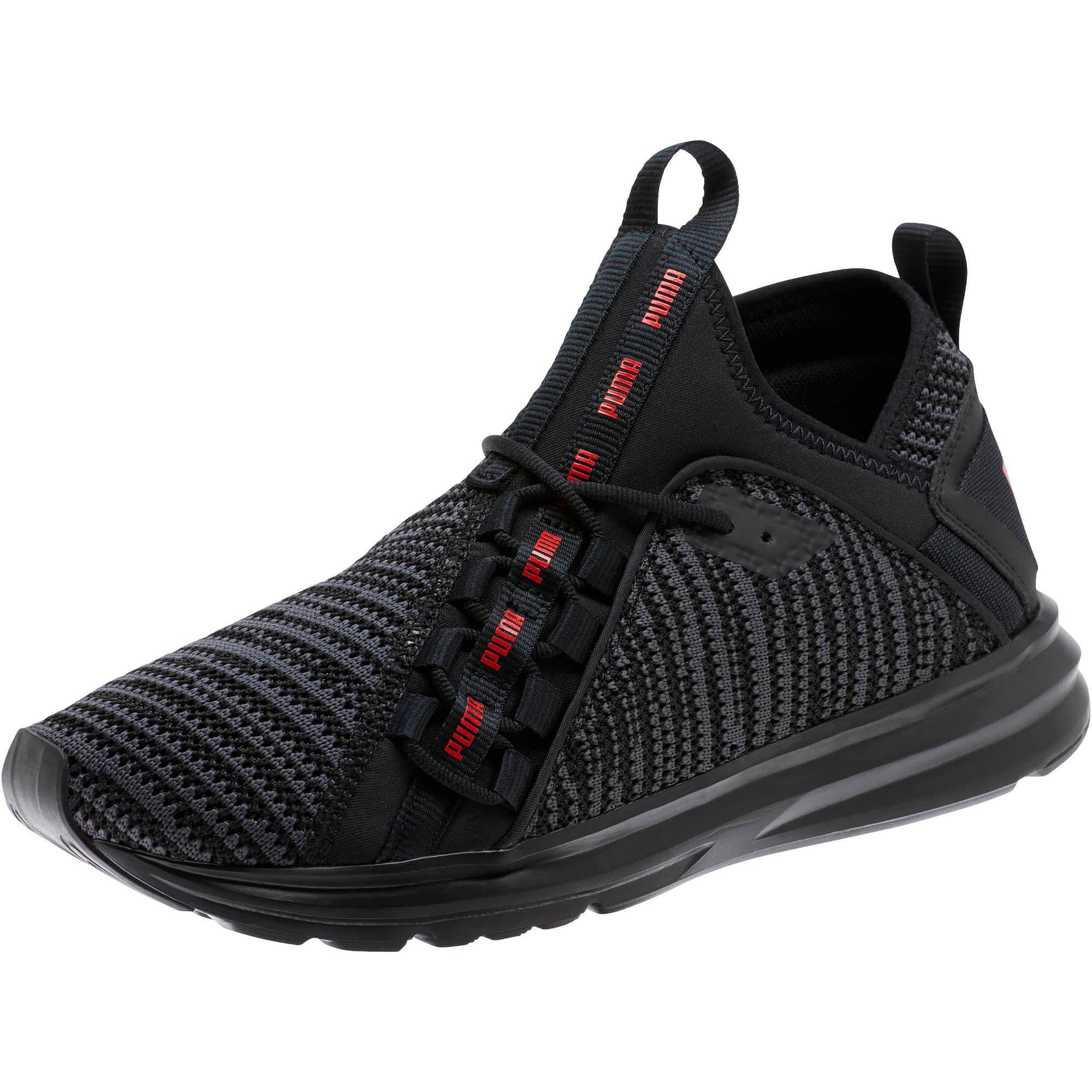 Thumbnail 1 of Enzo Peak Men's Sneakers, Black-Asphalt-High Risk Red, medium