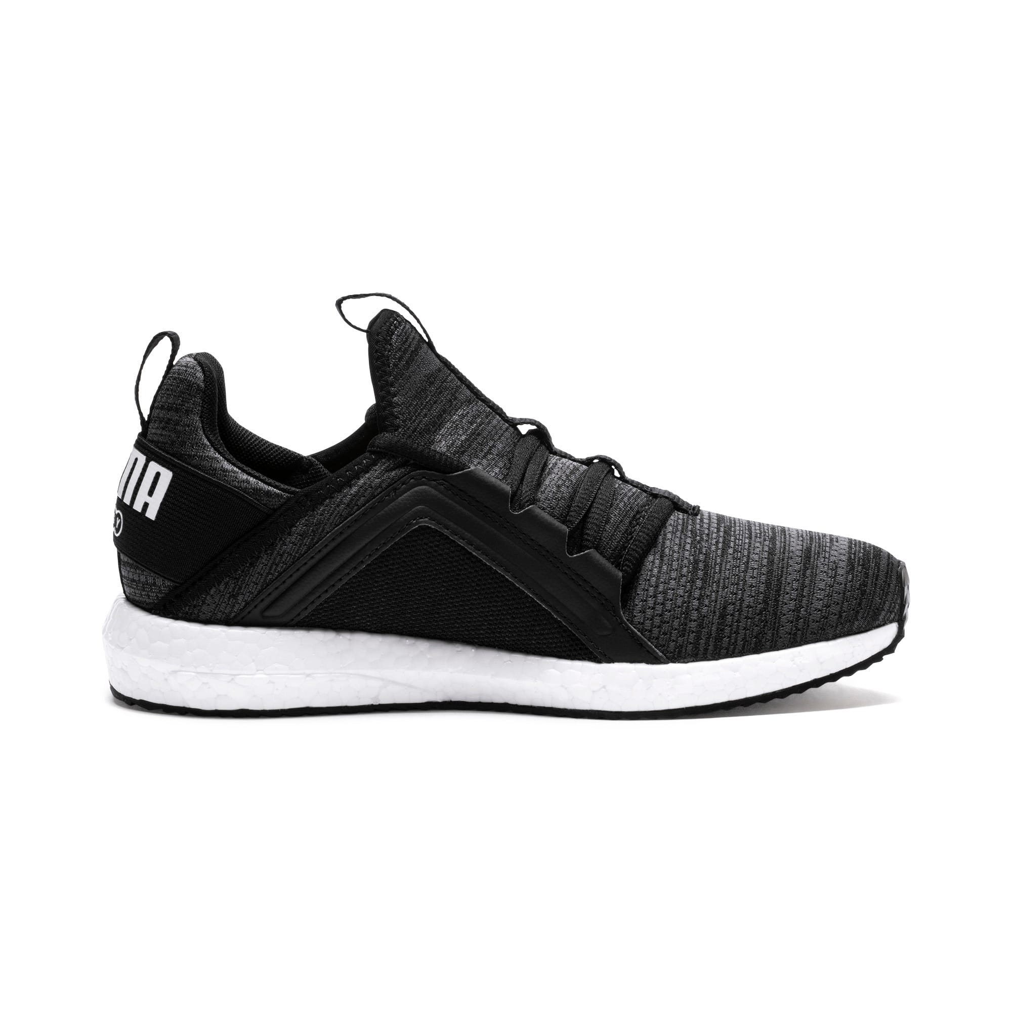 Thumbnail 5 of Mega NRGY Heather Knit Running Shoes JR, Iron Gate-Black-White, medium