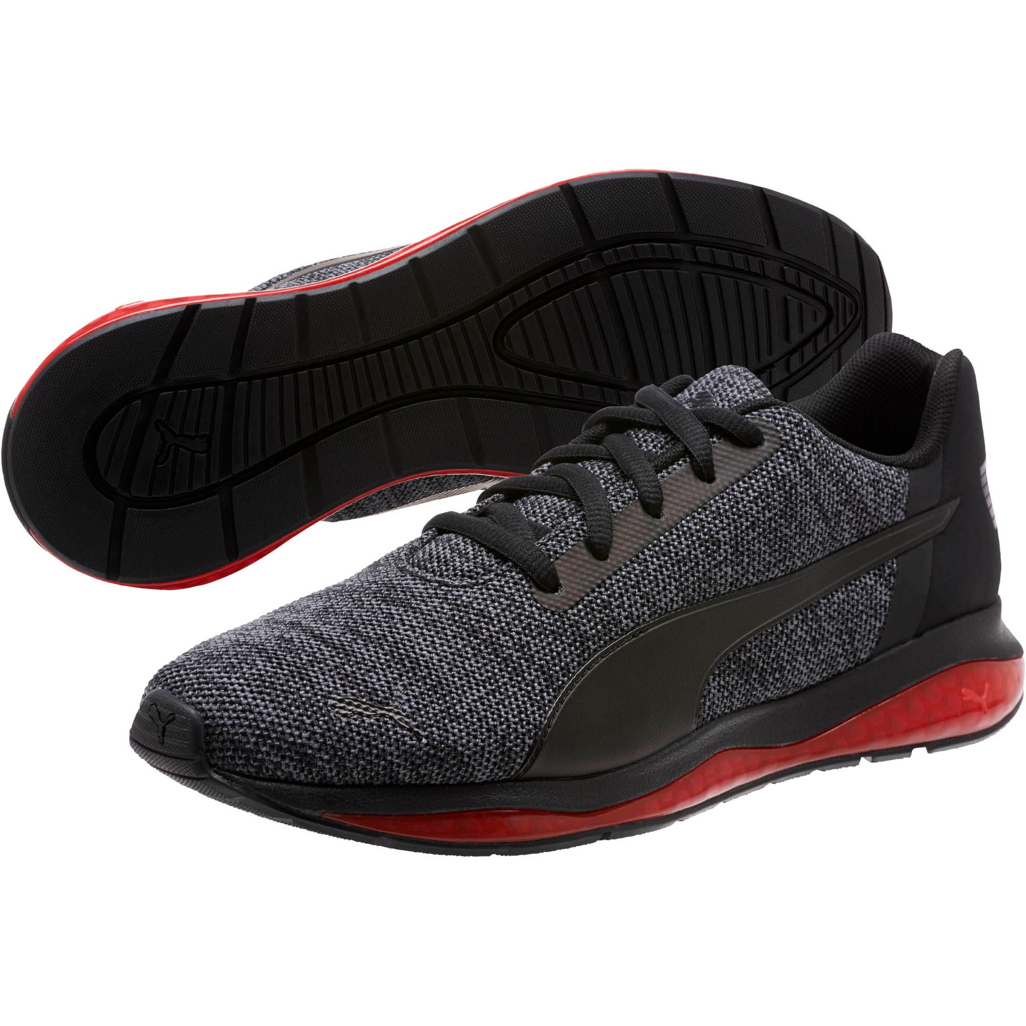 Thumbnail 2 of CELL Ultimate Knit Training Shoes, Pma Blk-QUIET SHDE-Rbbon Red, medium