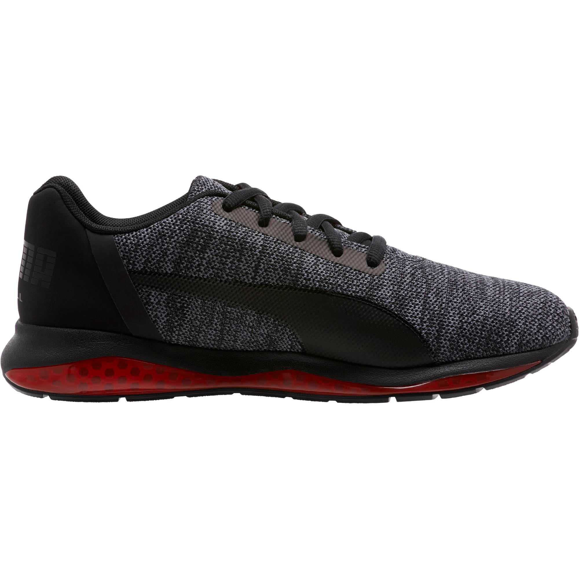 Thumbnail 5 of CELL Ultimate Knit Training Shoes, Pma Blk-QUIET SHDE-Rbbon Red, medium