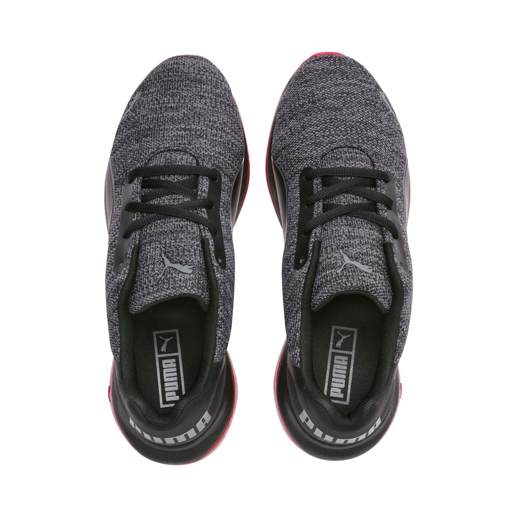 Thumbnail 4 of CELL Ultimate Knit Training Shoes, Pma Blk-QUIET SHDE-Rbbon Red, medium