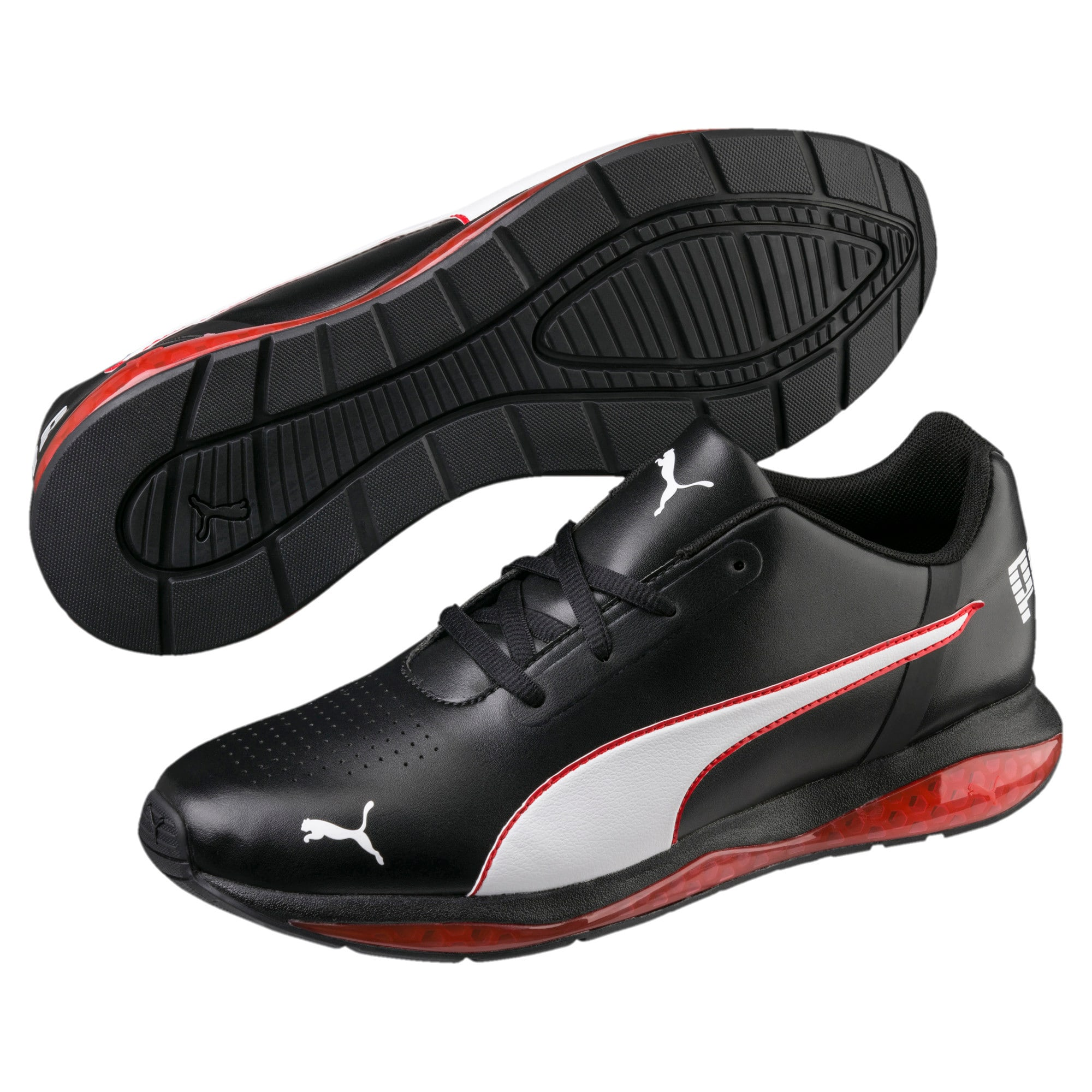 Thumbnail 2 of CELL Ultimate SL Running Shoes, Pma Blk-Pma Wht-Hgh Rsk Rd, medium
