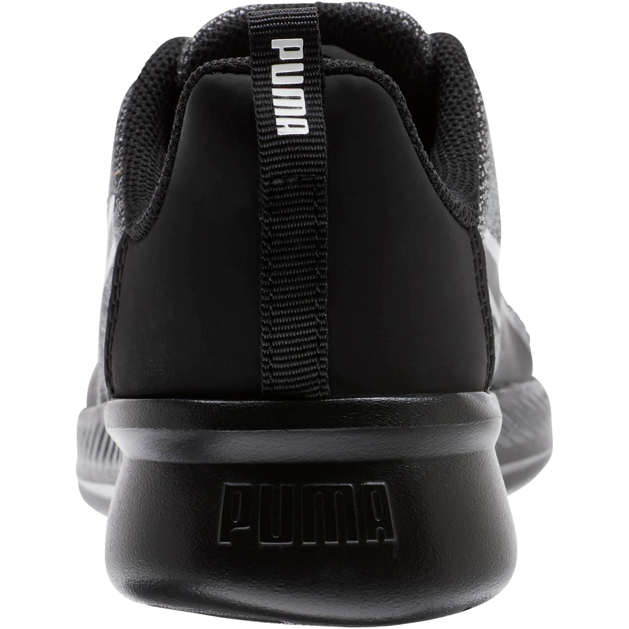 Thumbnail 3 of Tishatsu Runner Knit Little Kids' Shoes, Puma Black-Puma White, medium