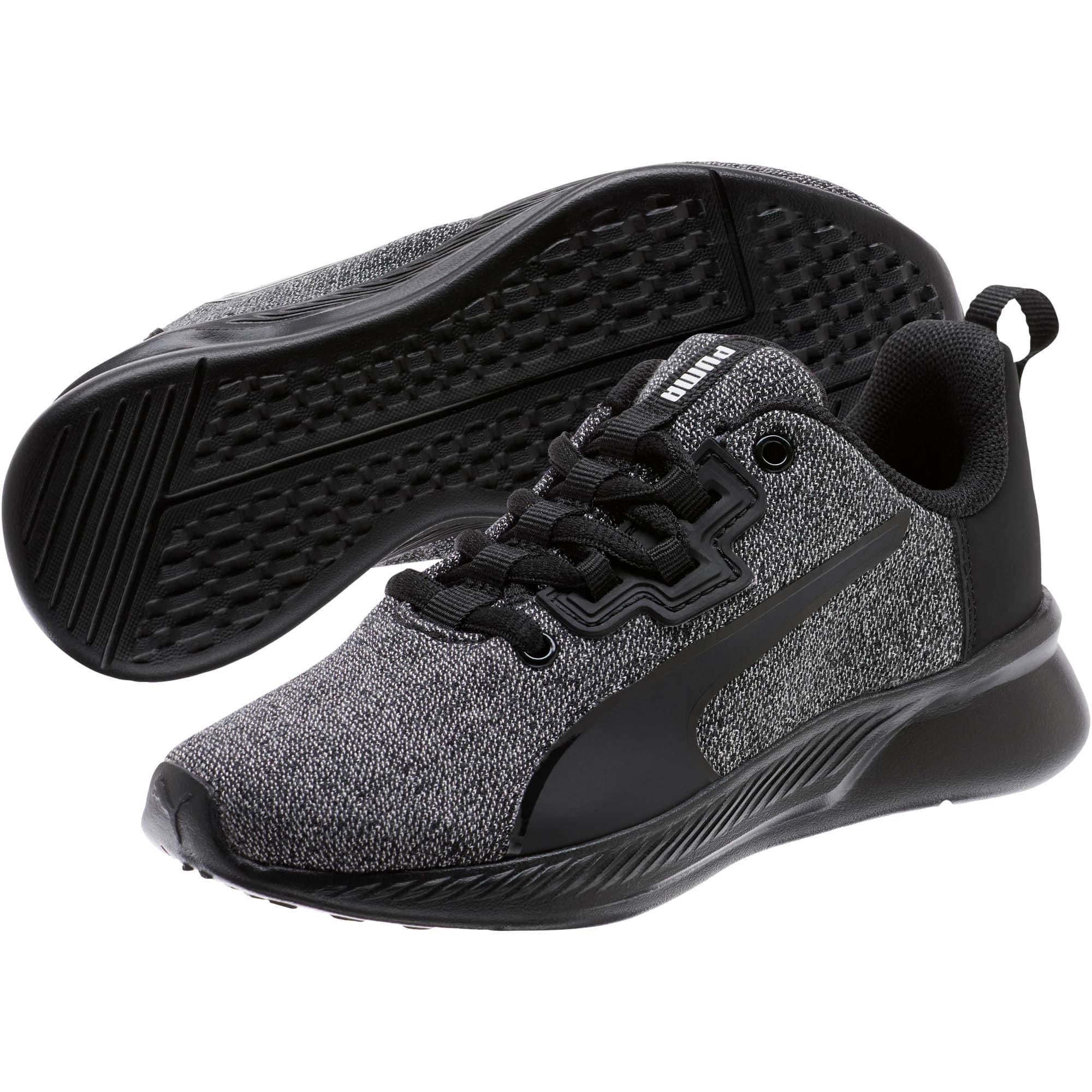 Thumbnail 2 of Tishatsu Runner Knit Little Kids' Shoes, Puma Black-Puma White, medium