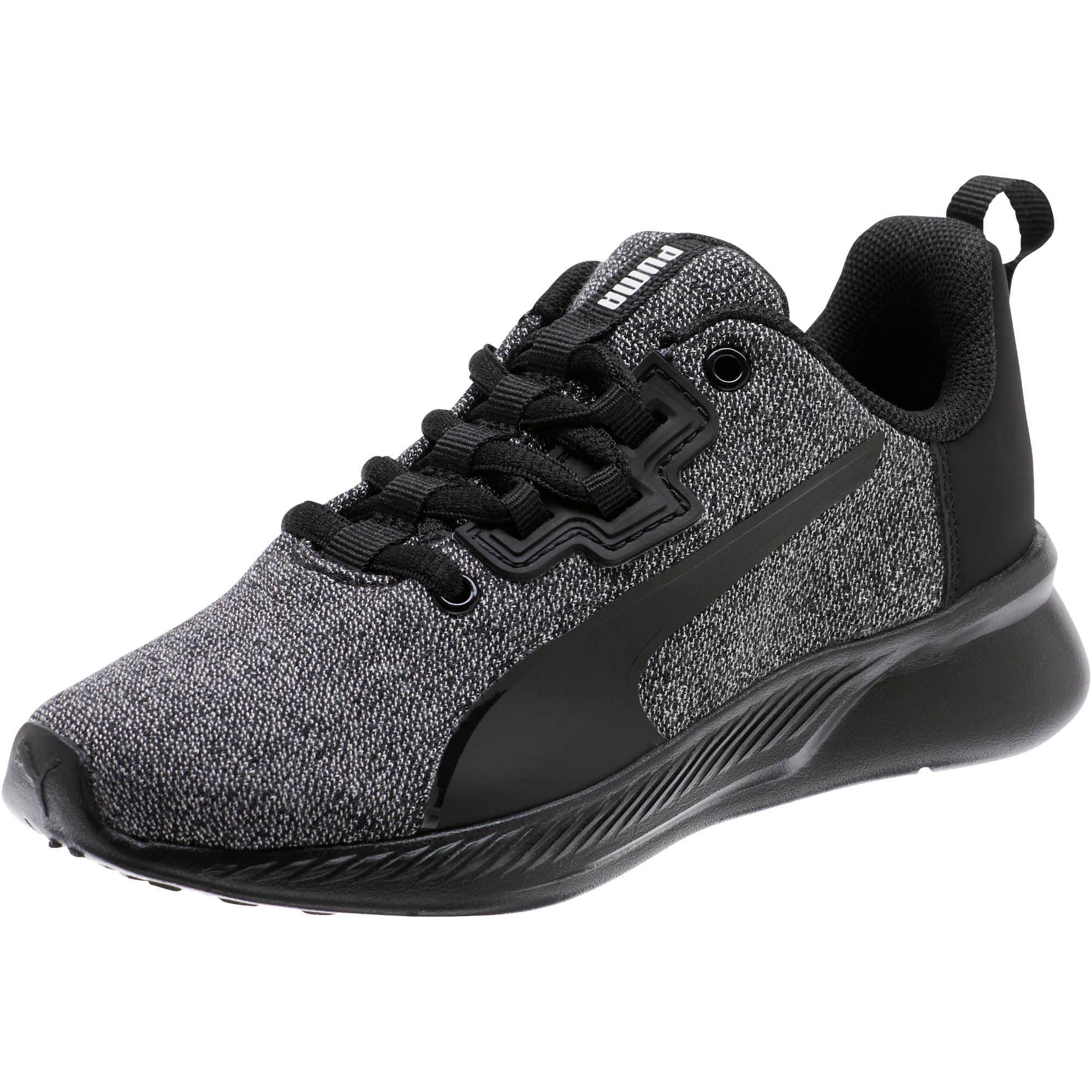 Thumbnail 1 of Tishatsu Runner Knit Little Kids' Shoes, Puma Black-Puma White, medium