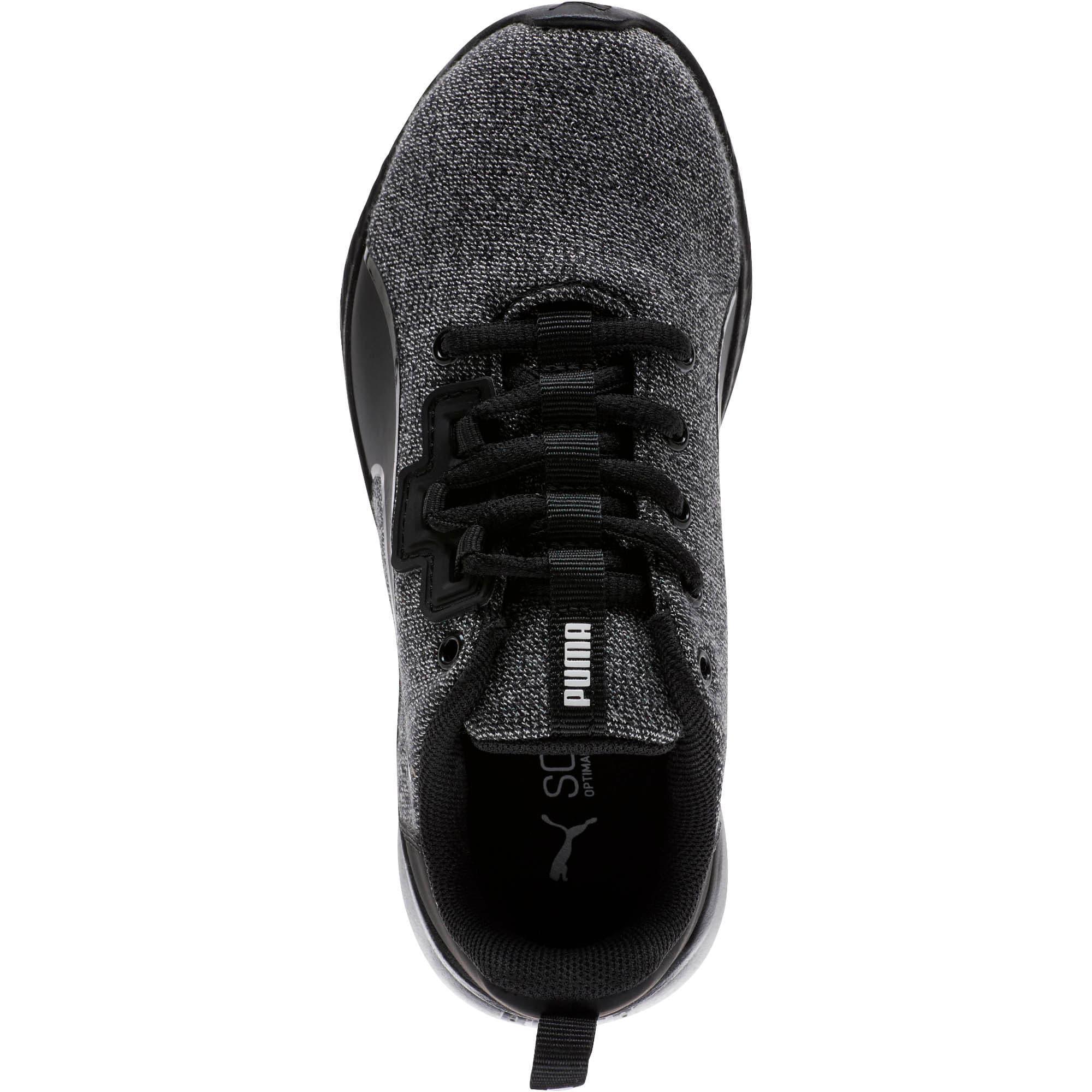 Thumbnail 5 of Tishatsu Runner Knit Little Kids' Shoes, Puma Black-Puma White, medium