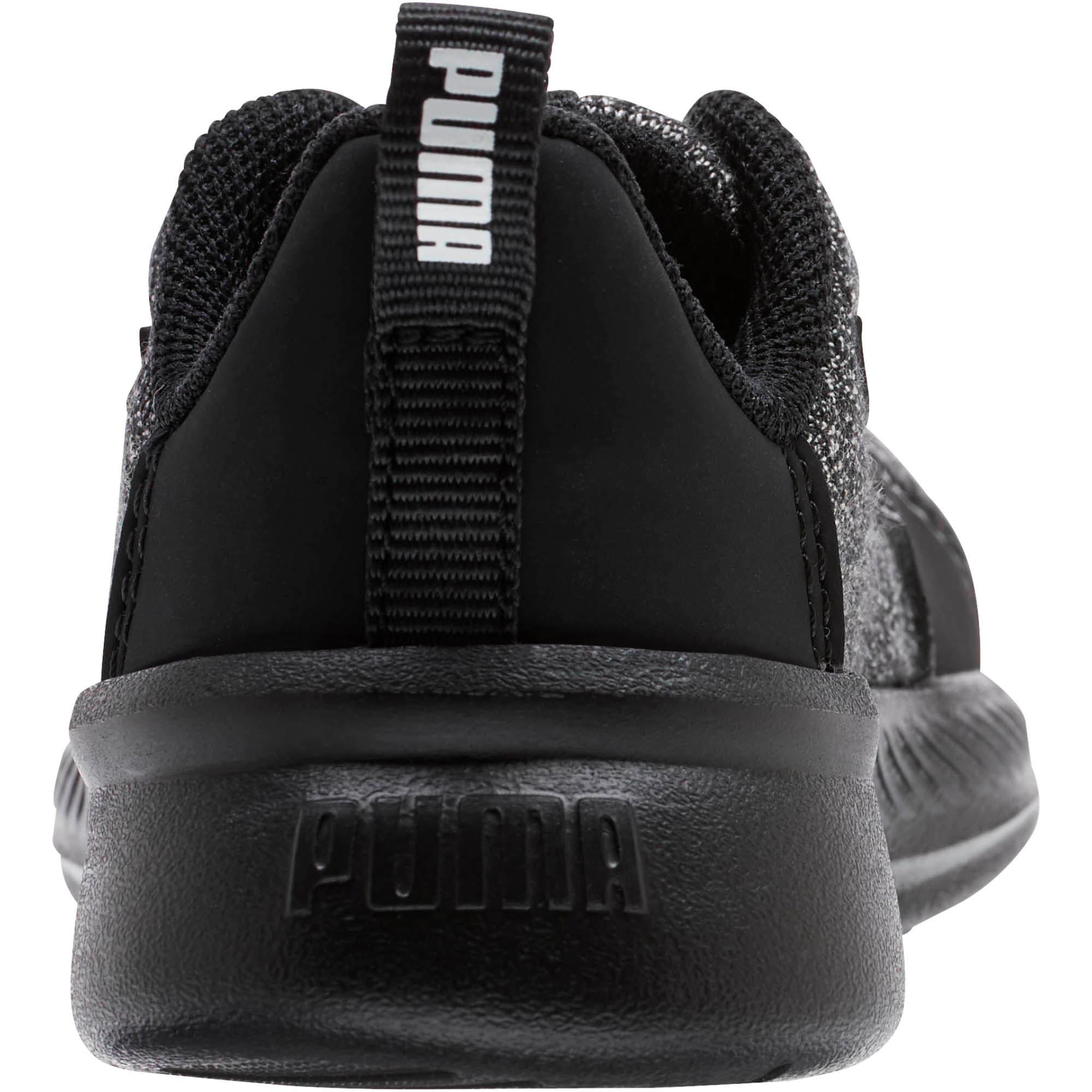 Thumbnail 3 of Tishatsu Runner Knit Toddler Shoes, Puma Black-Puma White, medium