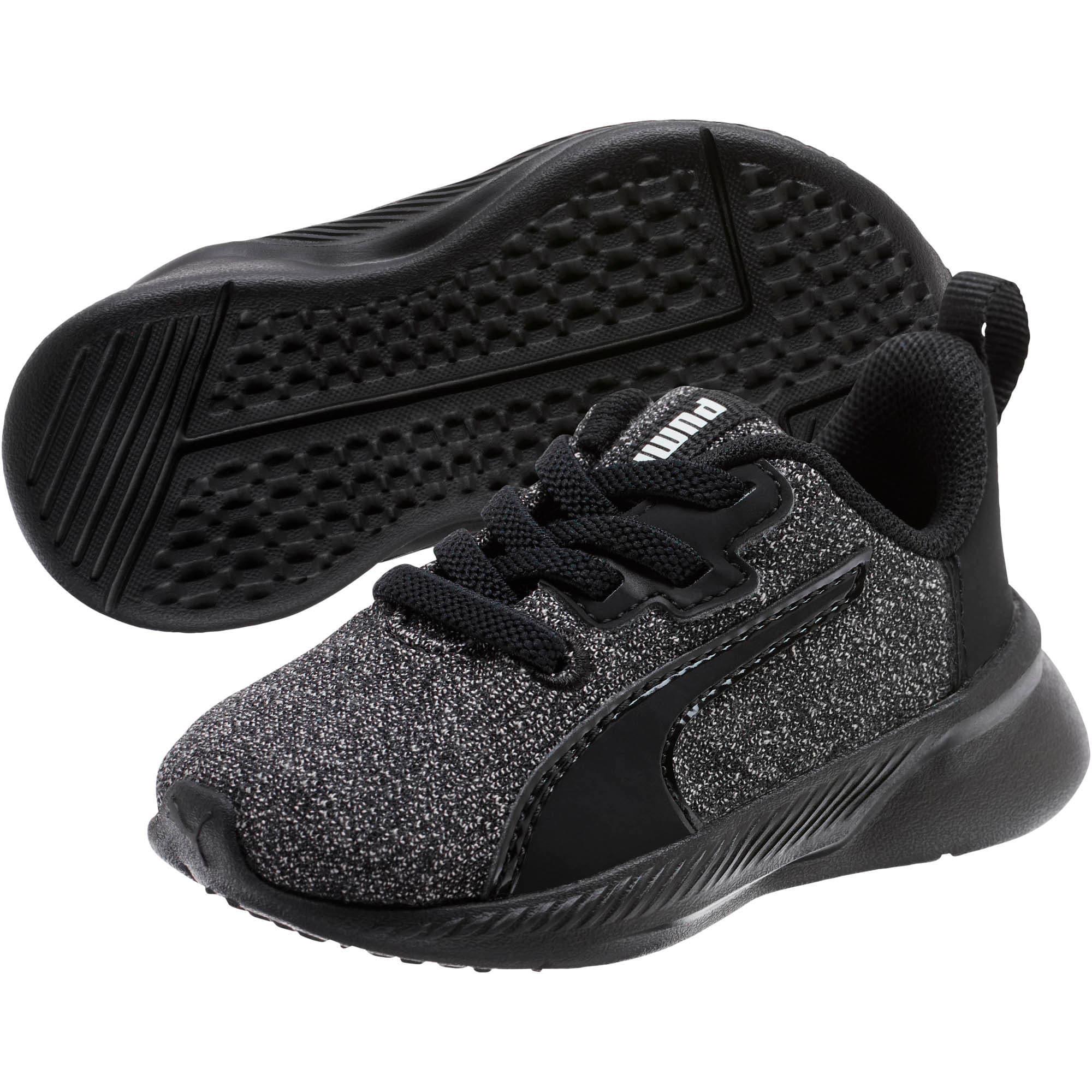 Thumbnail 2 of Tishatsu Runner Knit Toddler Shoes, Puma Black-Puma White, medium