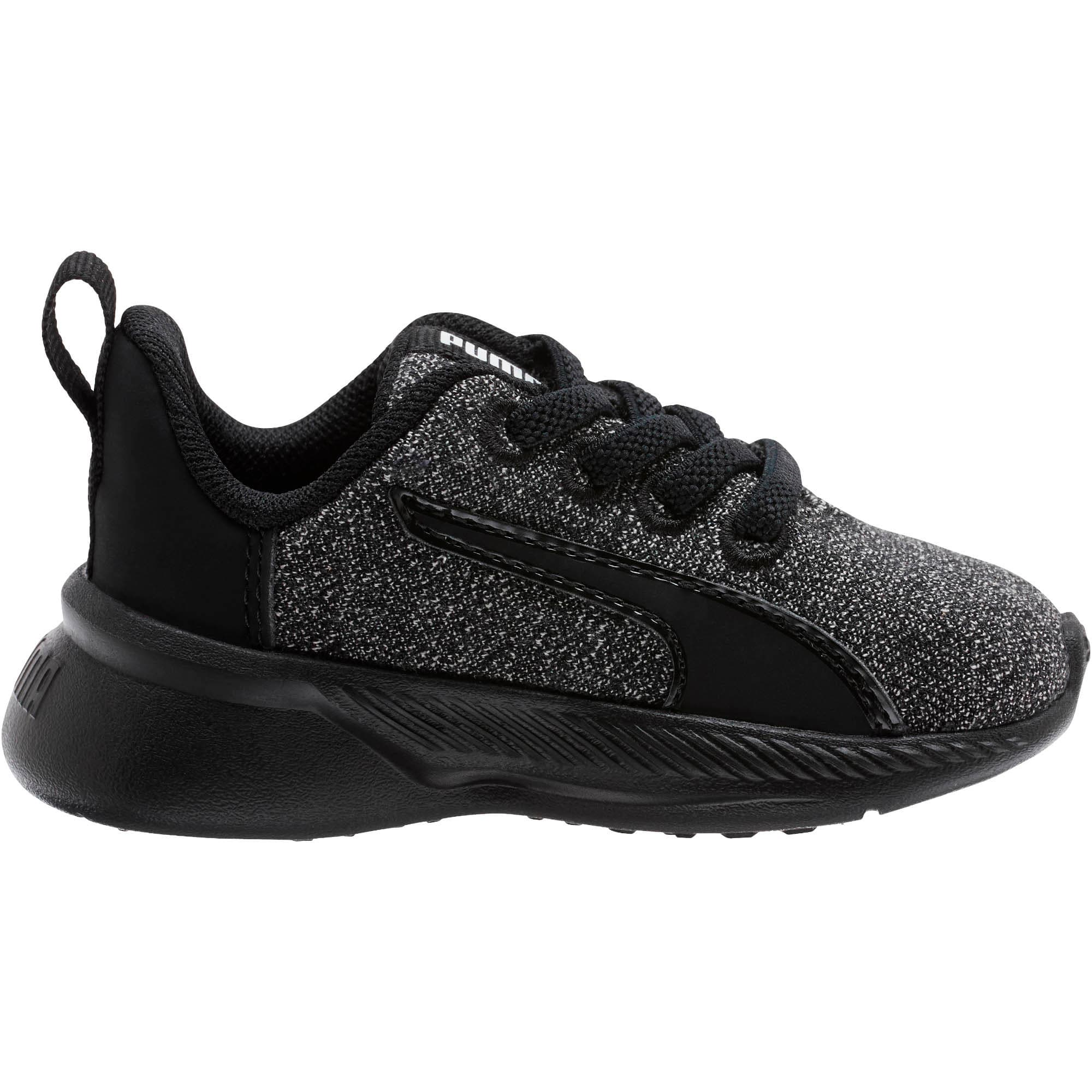 Thumbnail 4 of Tishatsu Runner Knit Toddler Shoes, Puma Black-Puma White, medium