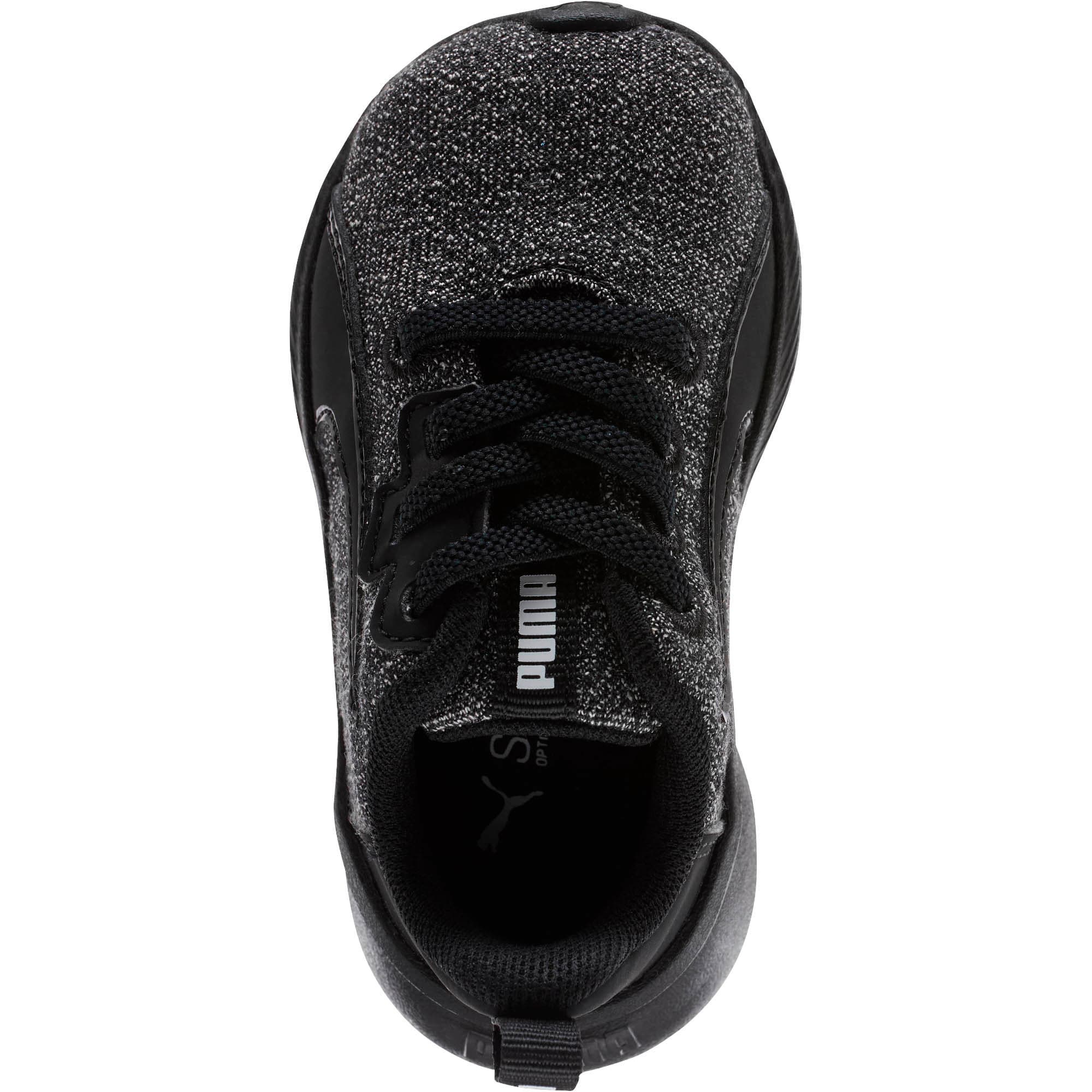 Thumbnail 5 of Tishatsu Runner Knit Toddler Shoes, Puma Black-Puma White, medium