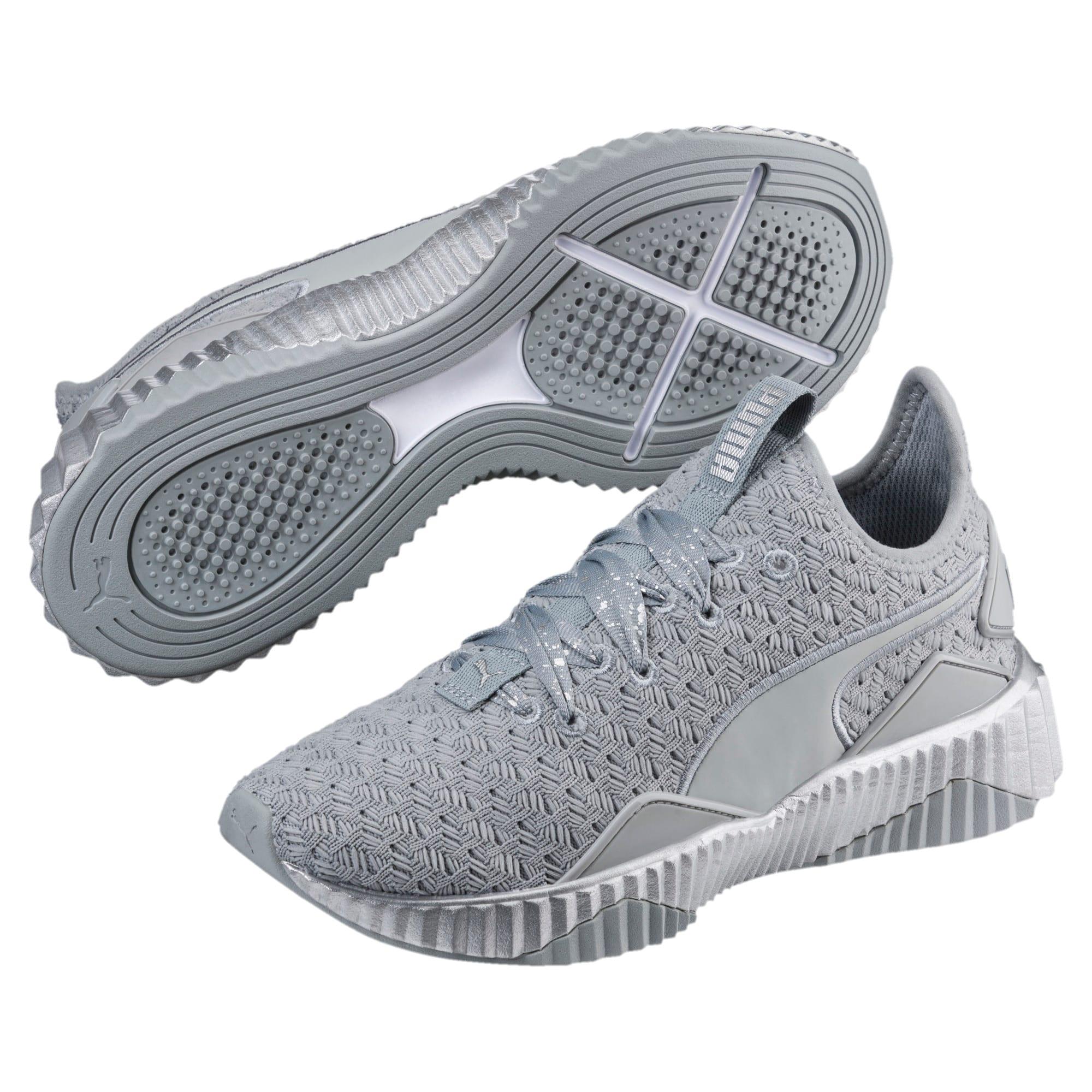 Thumbnail 2 of Defy Sparkle Women's Training Shoes, Quarry-Puma Silver, medium