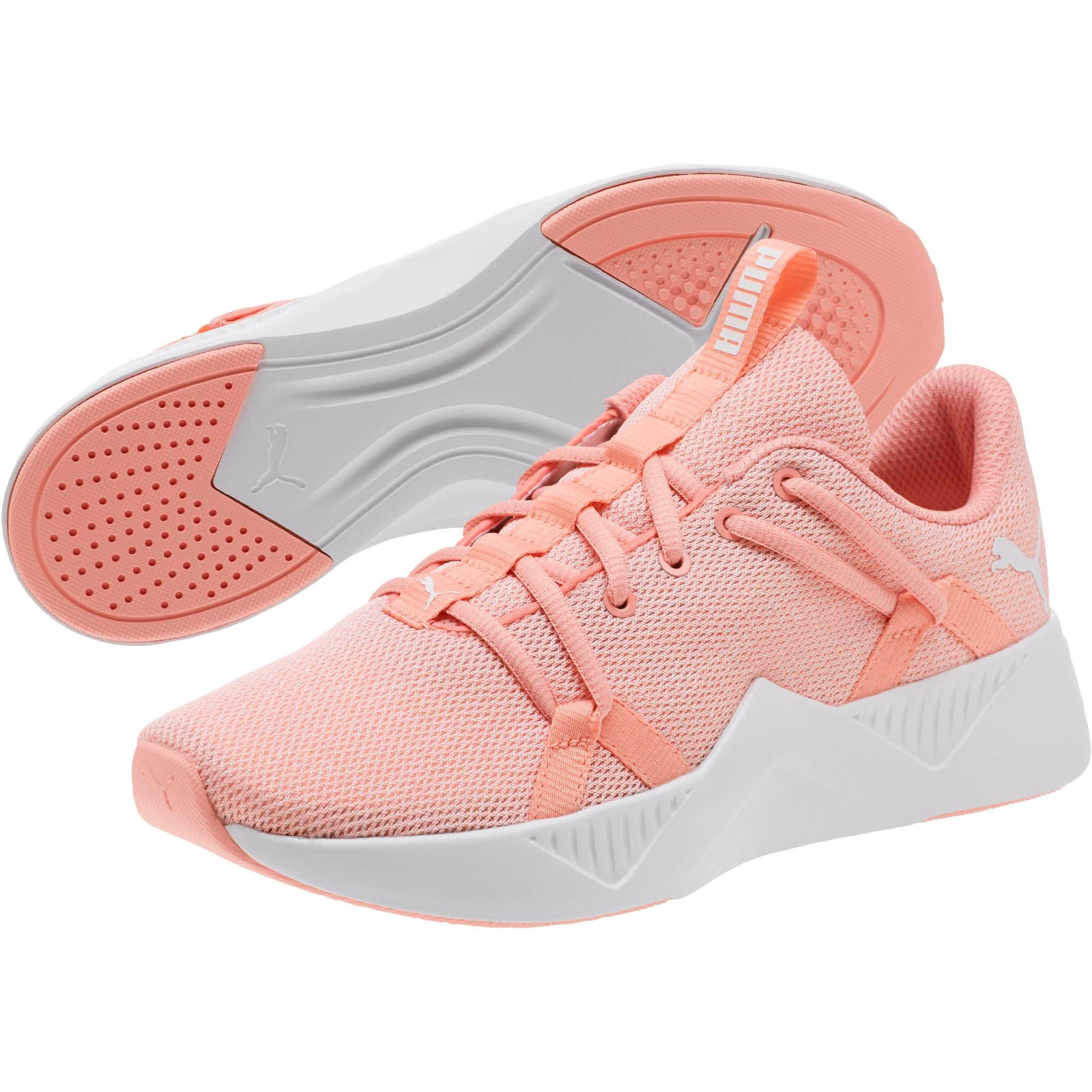 Thumbnail 2 of Incite Knit Women's Training Shoes, Peach Bud-Puma White, medium