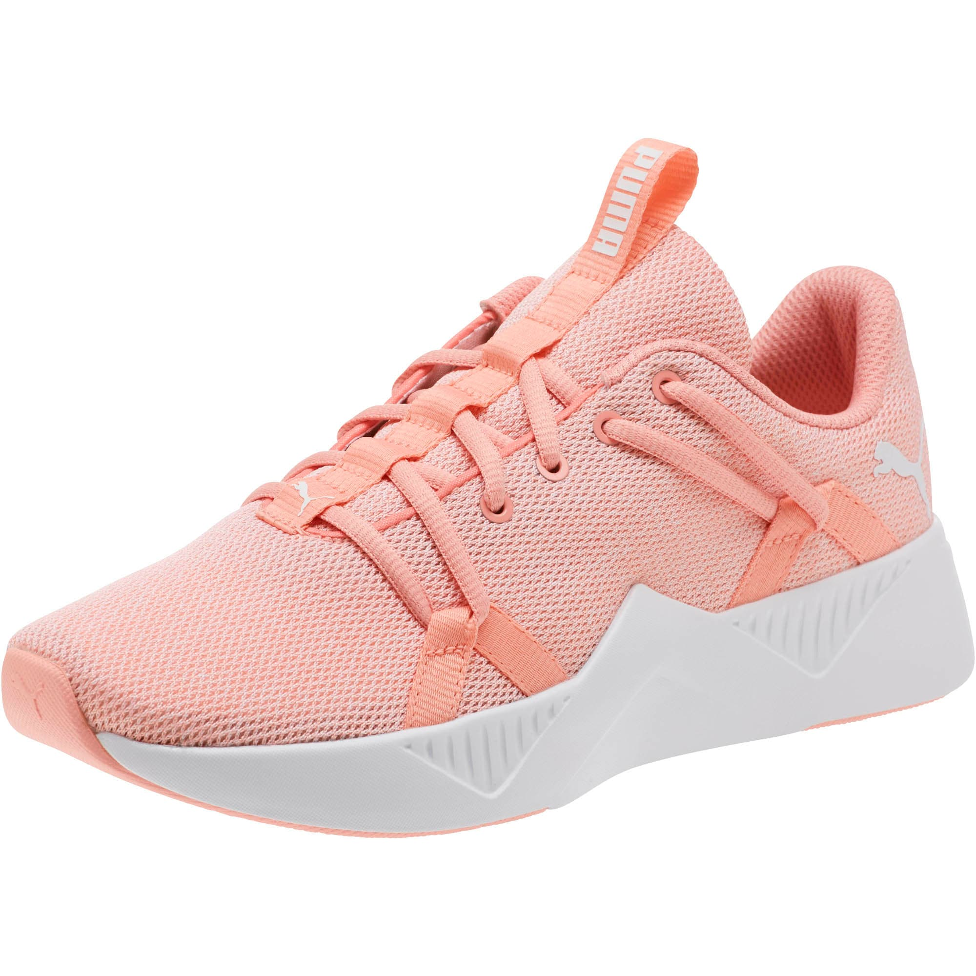 Incite Knit Women's Training Shoes, Peach Bud-Puma White, large
