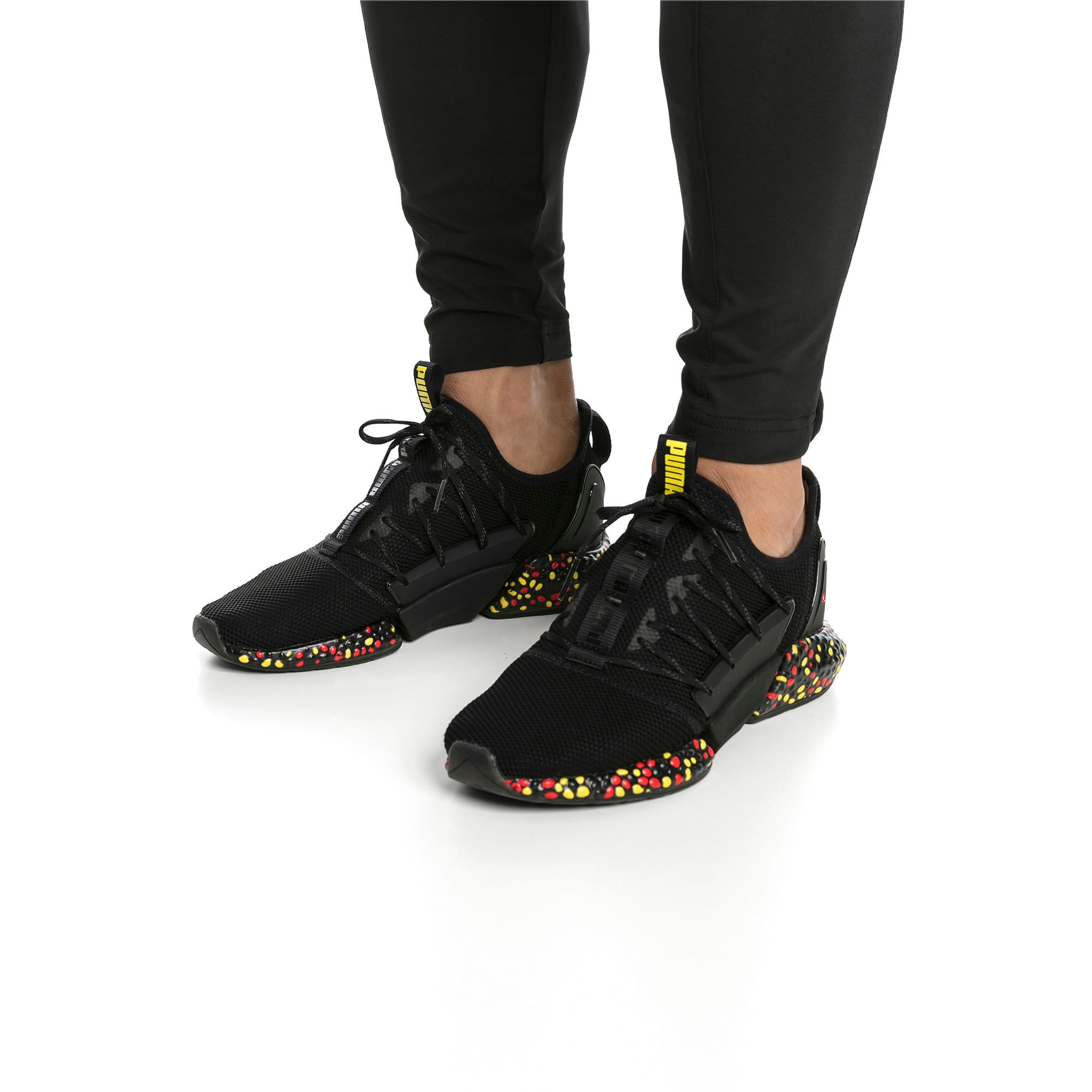 Miniaturka 2 Męskie buty do biegania Hybrid Rocket Runner, Kolor Black-Blazing Yellow-Red, średnie