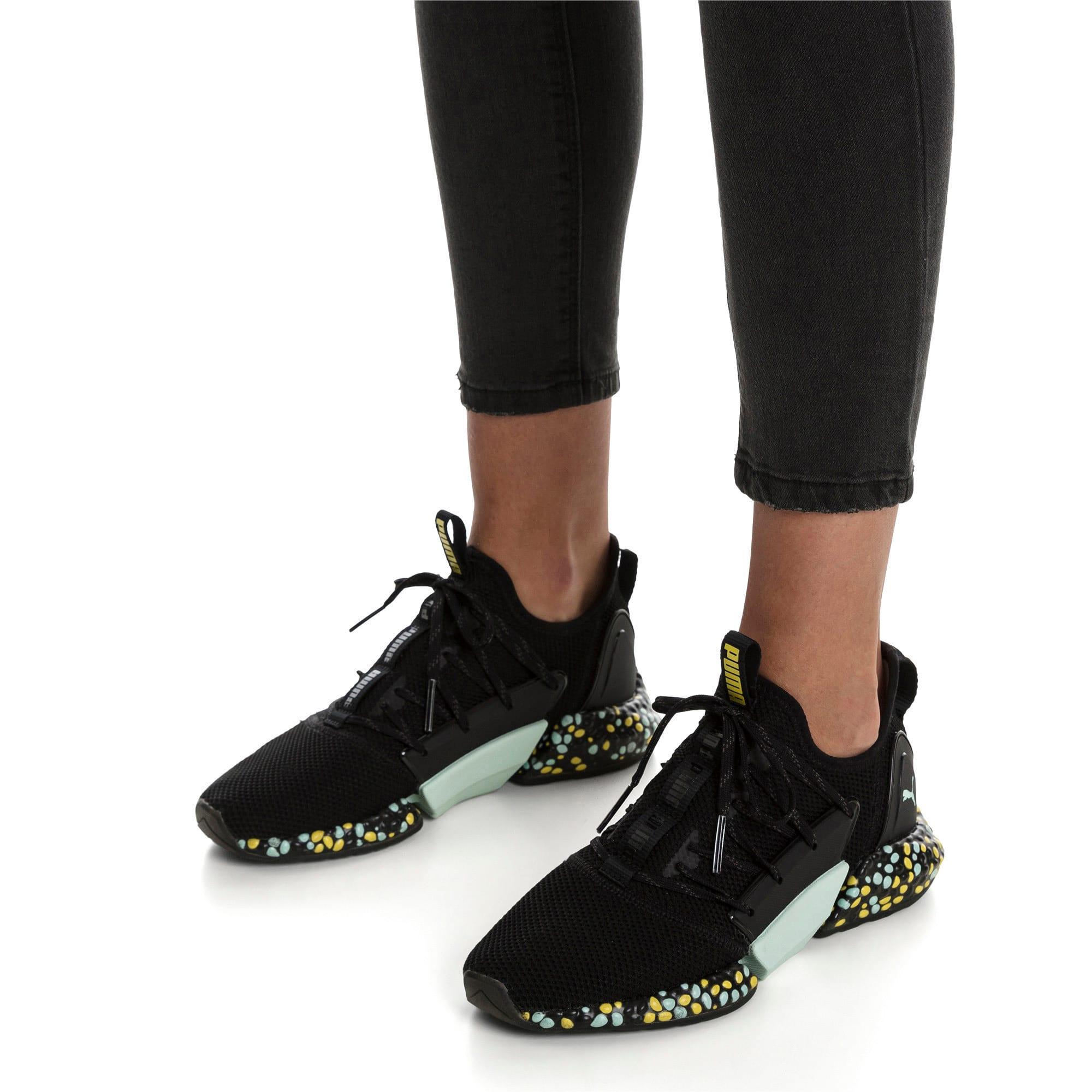 Thumbnail 2 of Hybrid Rocket Women's Running Shoes, Black-Fair Aqua-Yellow, medium