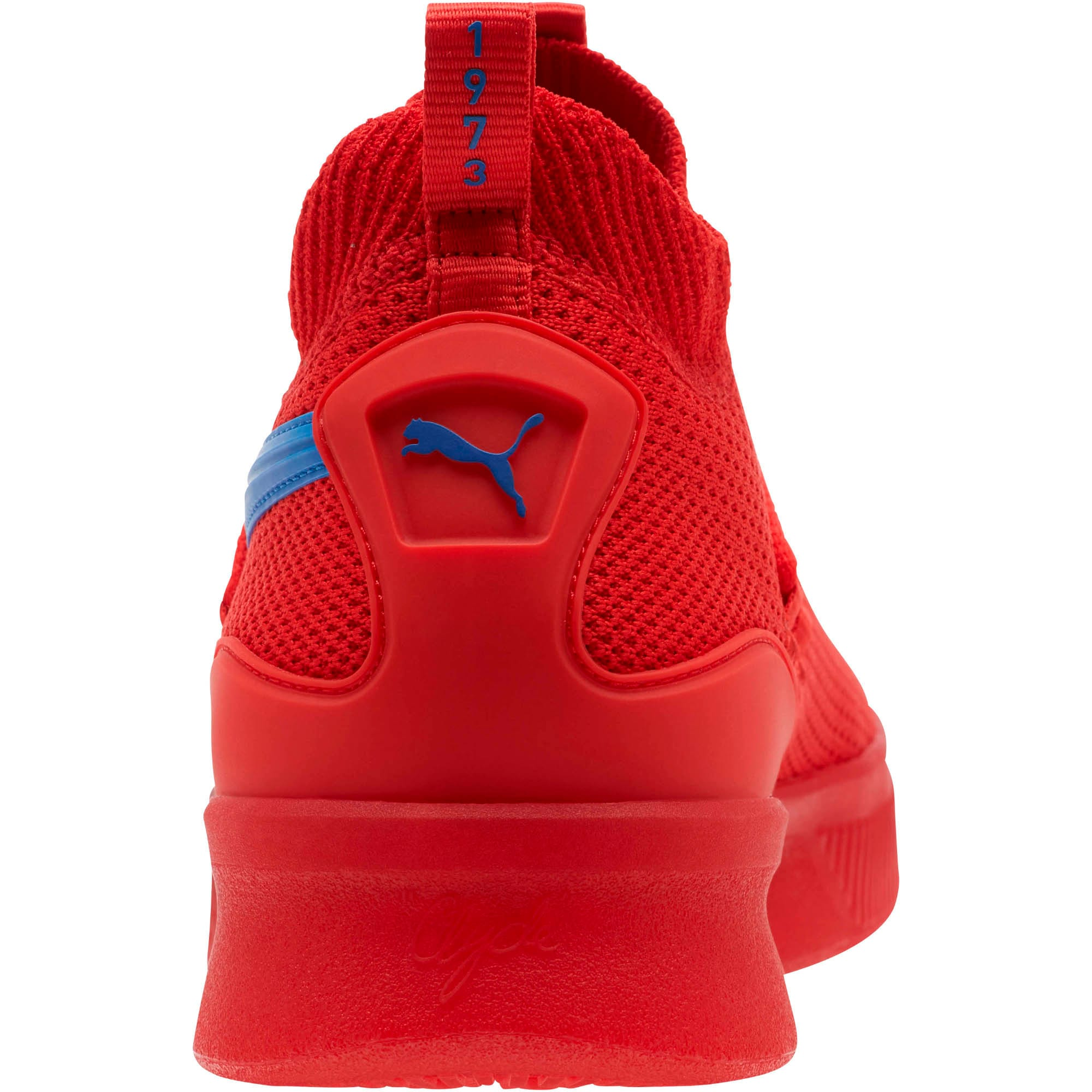 Thumbnail 4 of Clyde Court Core Basketball Shoes, High Risk Red-Strong Blue, medium