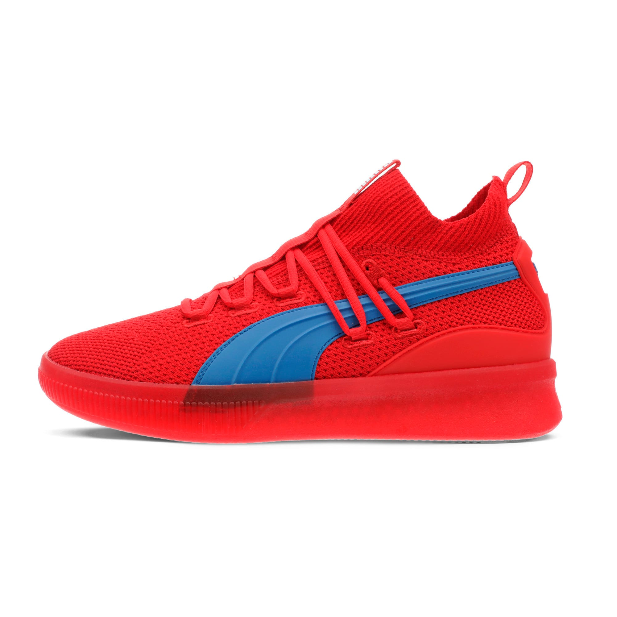 Thumbnail 1 of Clyde Court Core Basketball Shoes, High Risk Red-Strong Blue, medium