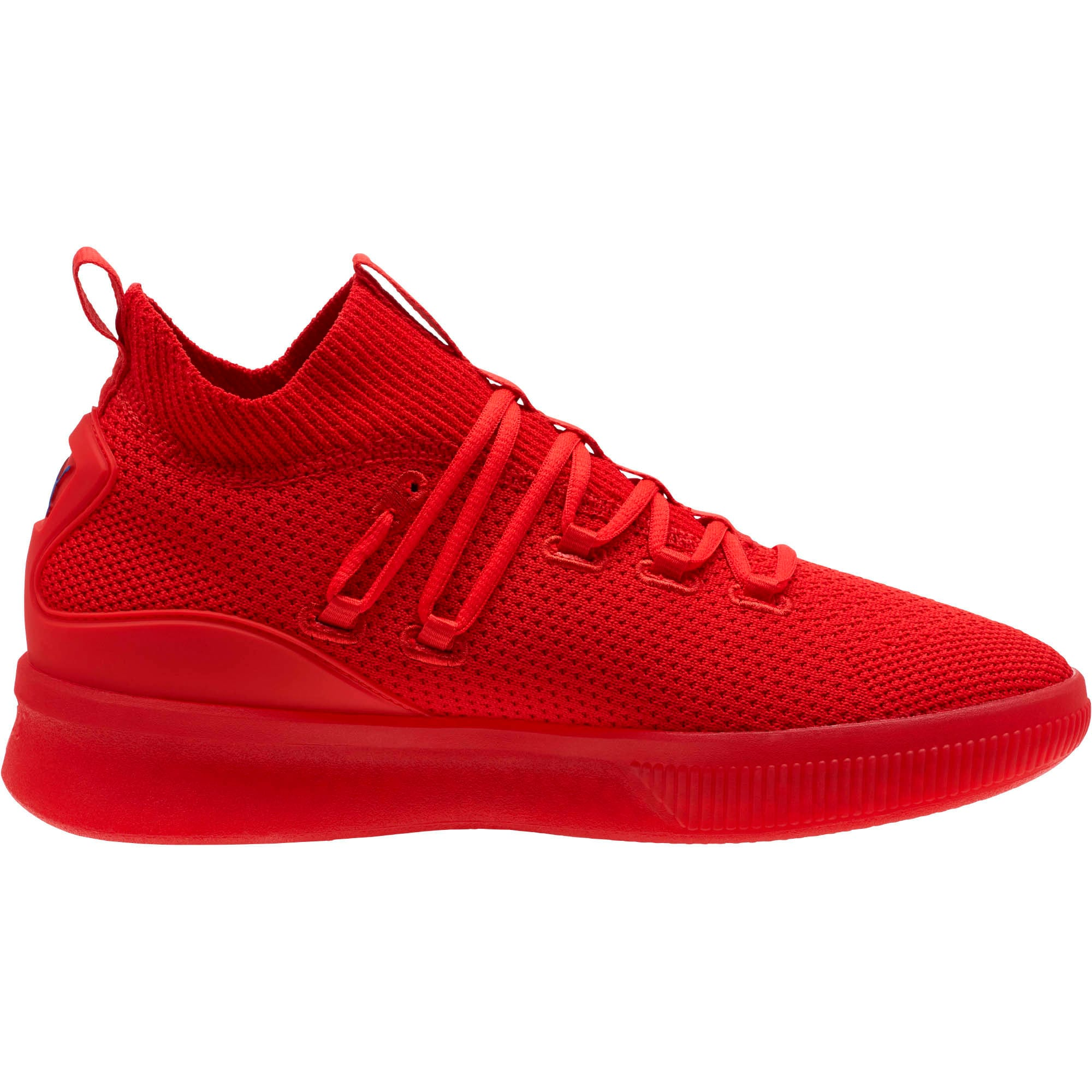 Thumbnail 3 of Clyde Court Core Basketball Shoes, High Risk Red-Strong Blue, medium
