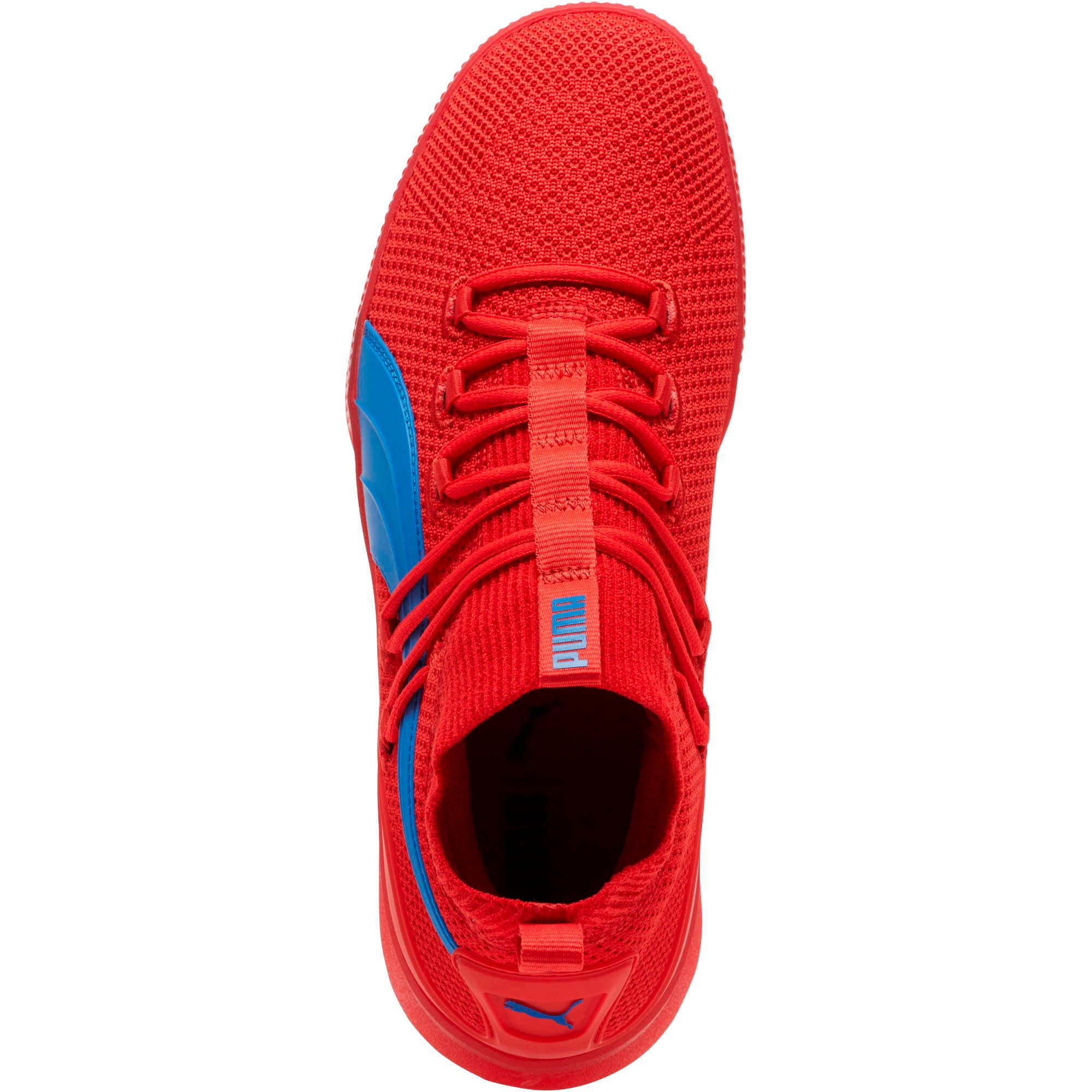 Thumbnail 5 of Clyde Court Core Basketball Shoes, High Risk Red-Strong Blue, medium