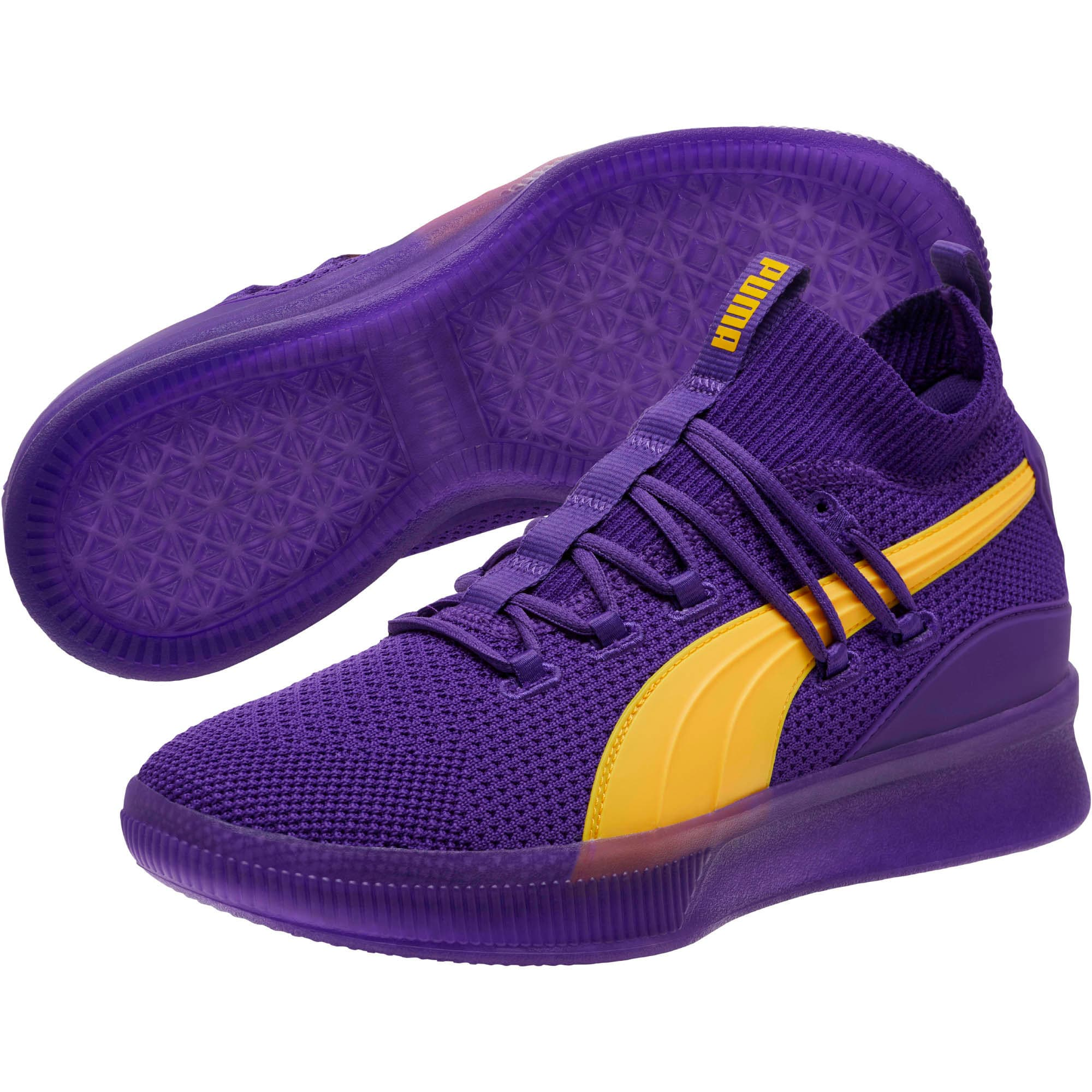 Thumbnail 2 of Clyde Court Core Basketball Shoes, Prism Violet, medium