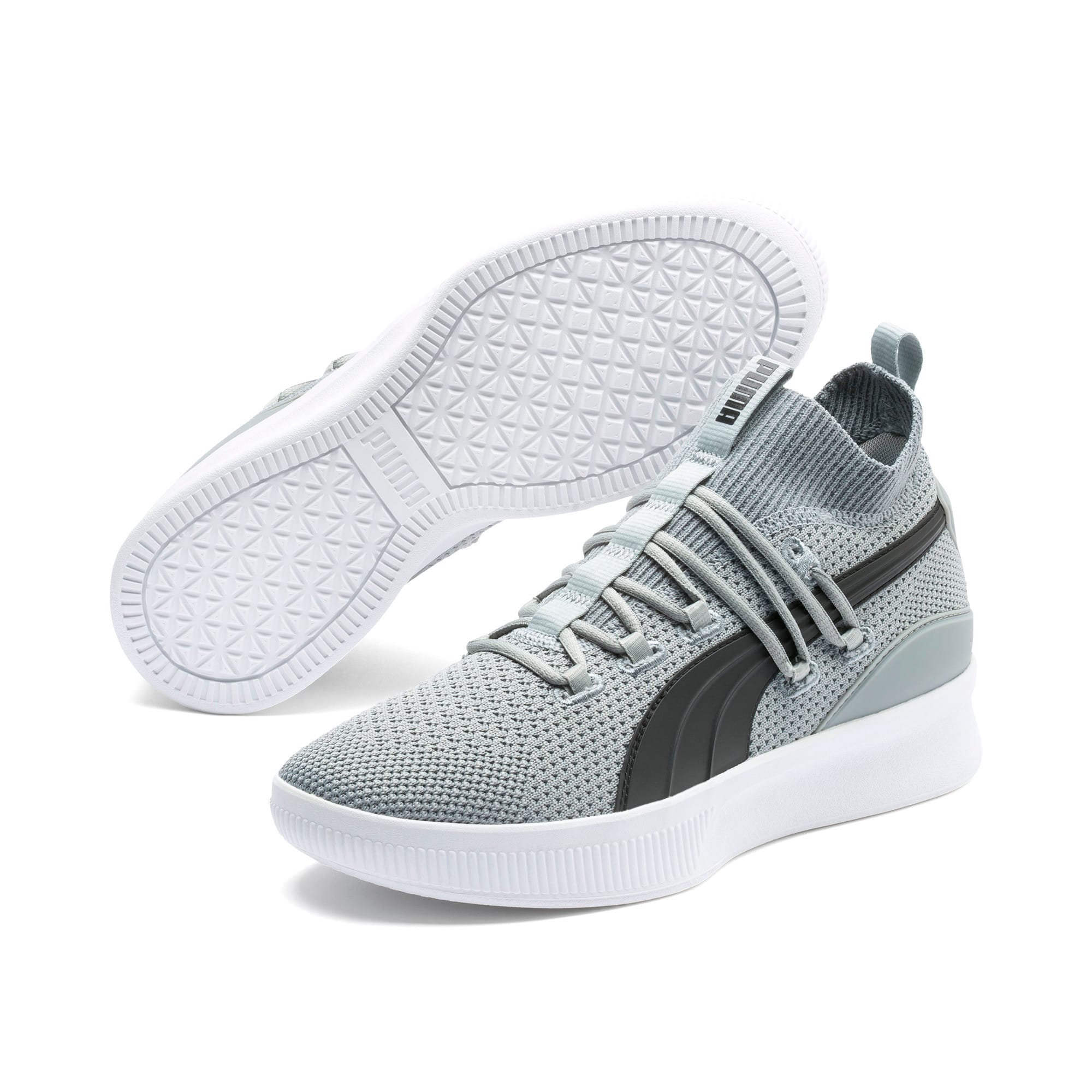 Thumbnail 2 of Clyde Court Basketball Shoes, Quarry-Puma Black, medium