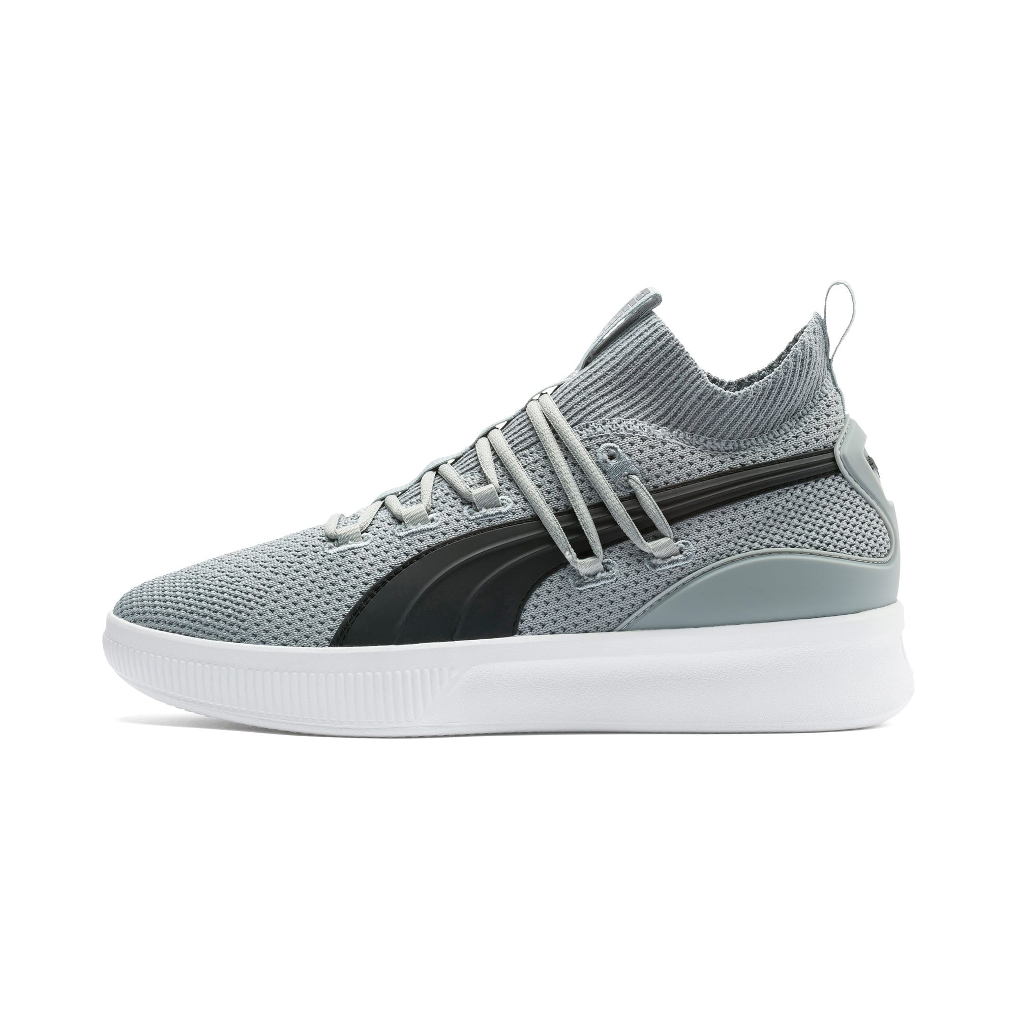 Thumbnail 1 of Clyde Court Basketball Shoes, Quarry-Puma Black, medium