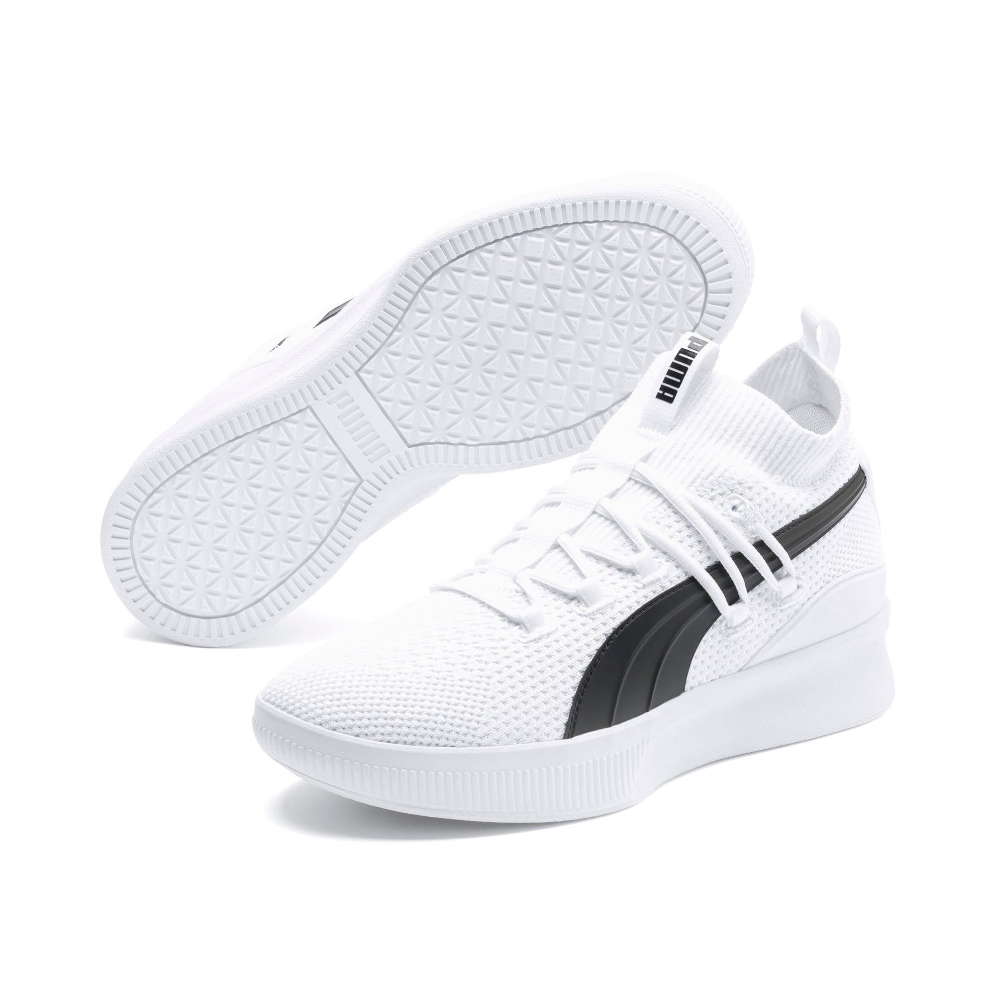 Thumbnail 2 of Chaussure de basket Clyde Court, Puma White, medium