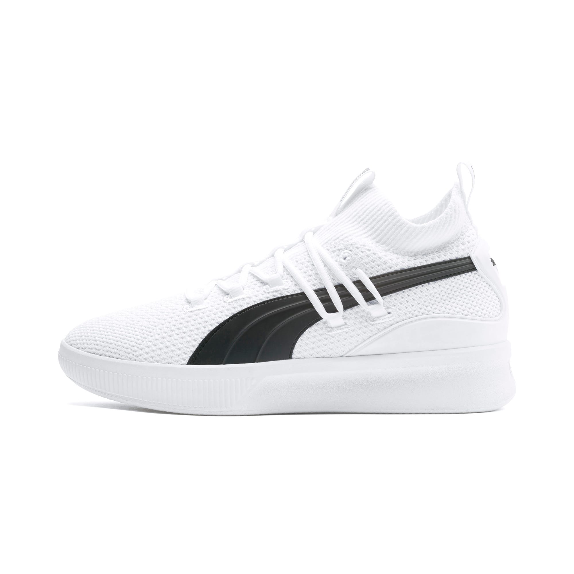 Thumbnail 1 of Clyde Court Core Basketball Shoes, Puma White, medium