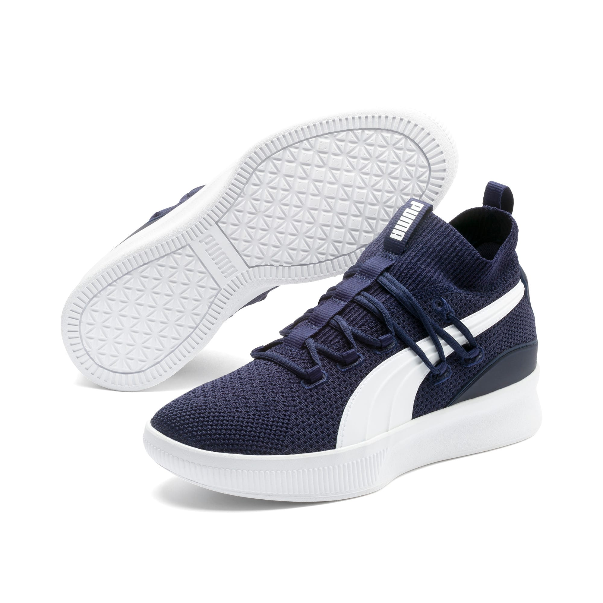 Thumbnail 2 of Clyde Court Core Basketball Shoes, Peacoat, medium