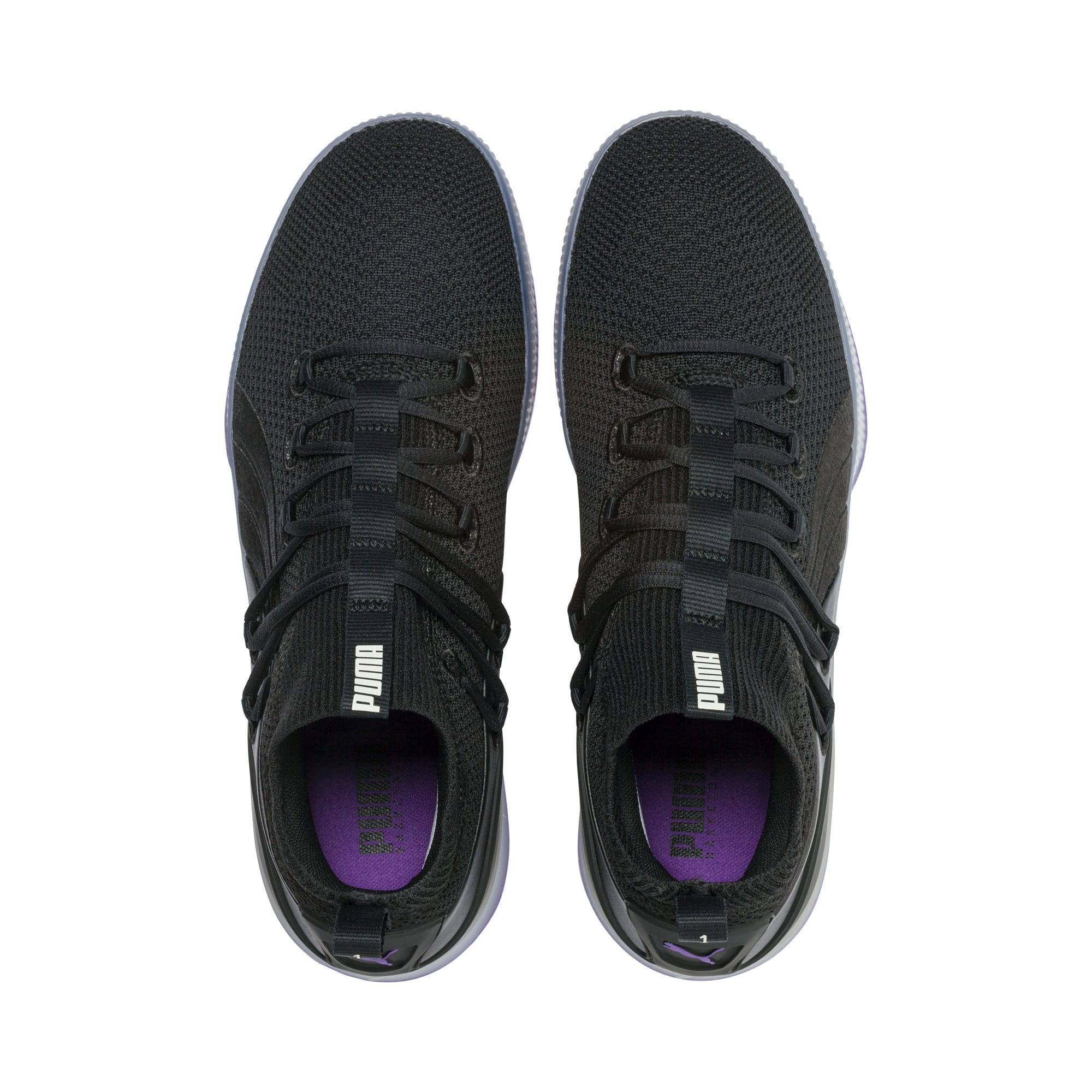 Thumbnail 6 of Clyde Court Disrupt Men's Basketball Shoes, Puma Black-ELECTRIC PURPLE, medium
