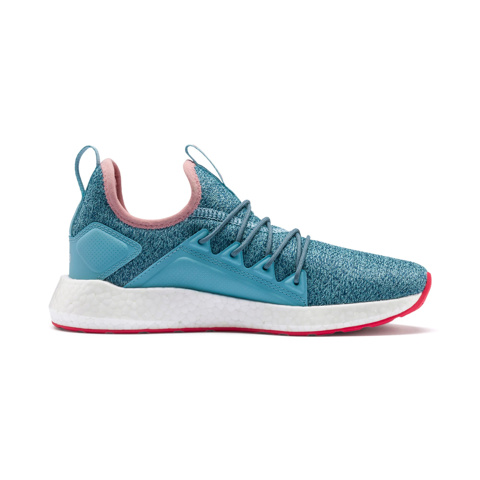 Thumbnail 5 of NRGY Neko Knit Running Shoes JR, M Blue-Bluestone-C Coral-Wht, medium