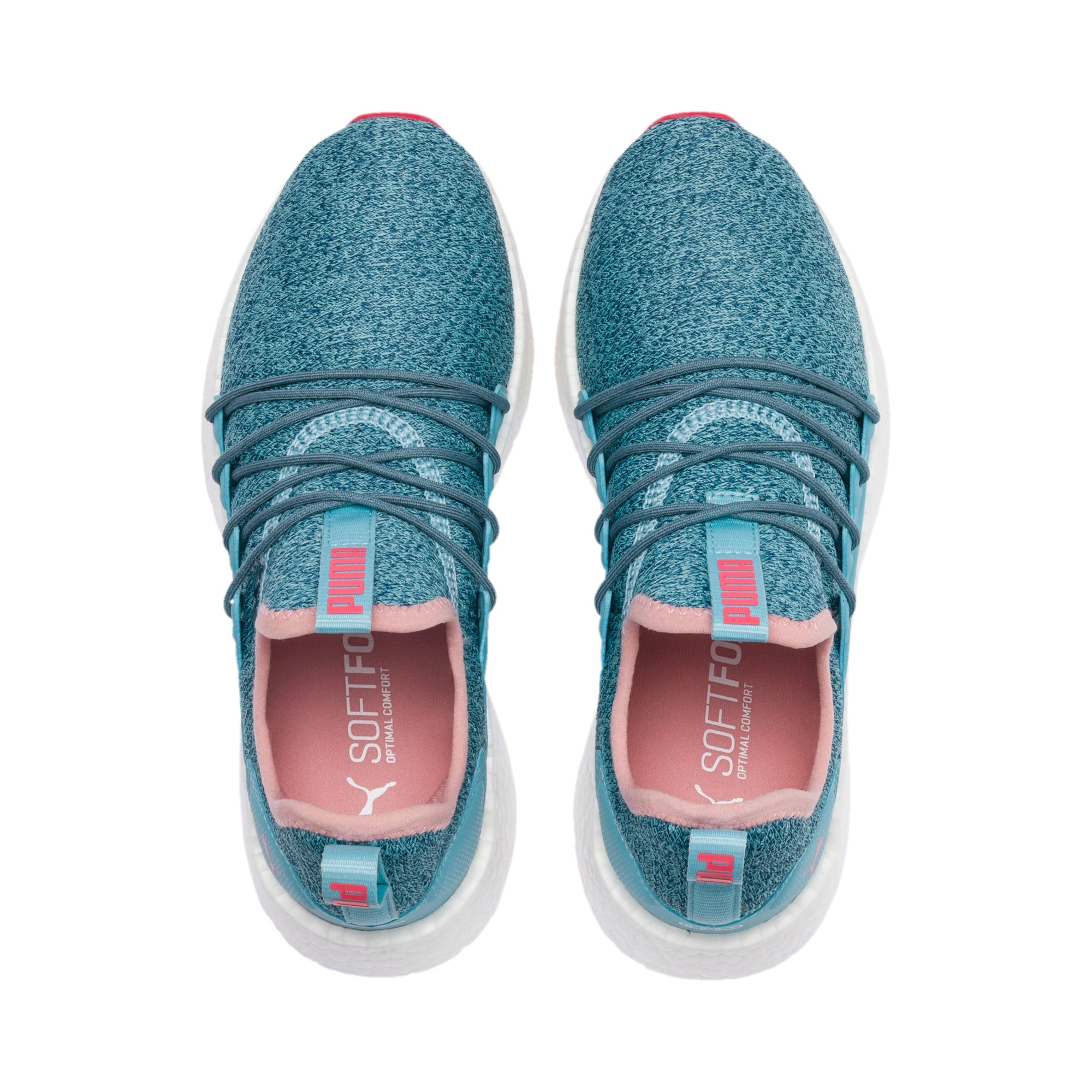 Thumbnail 6 of NRGY Neko Knit Running Shoes JR, M Blue-Bluestone-C Coral-Wht, medium