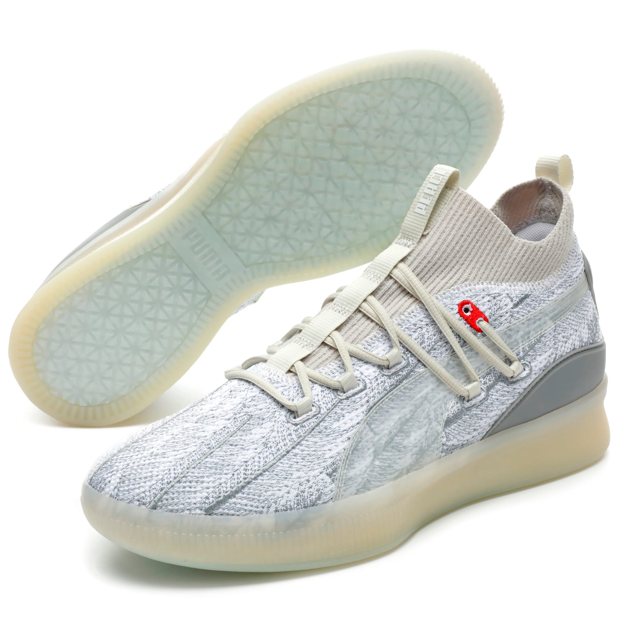 Thumbnail 2 of Chaussure de basket Clyde Court Peace on Earth pour homme, Vaporous Gray, medium