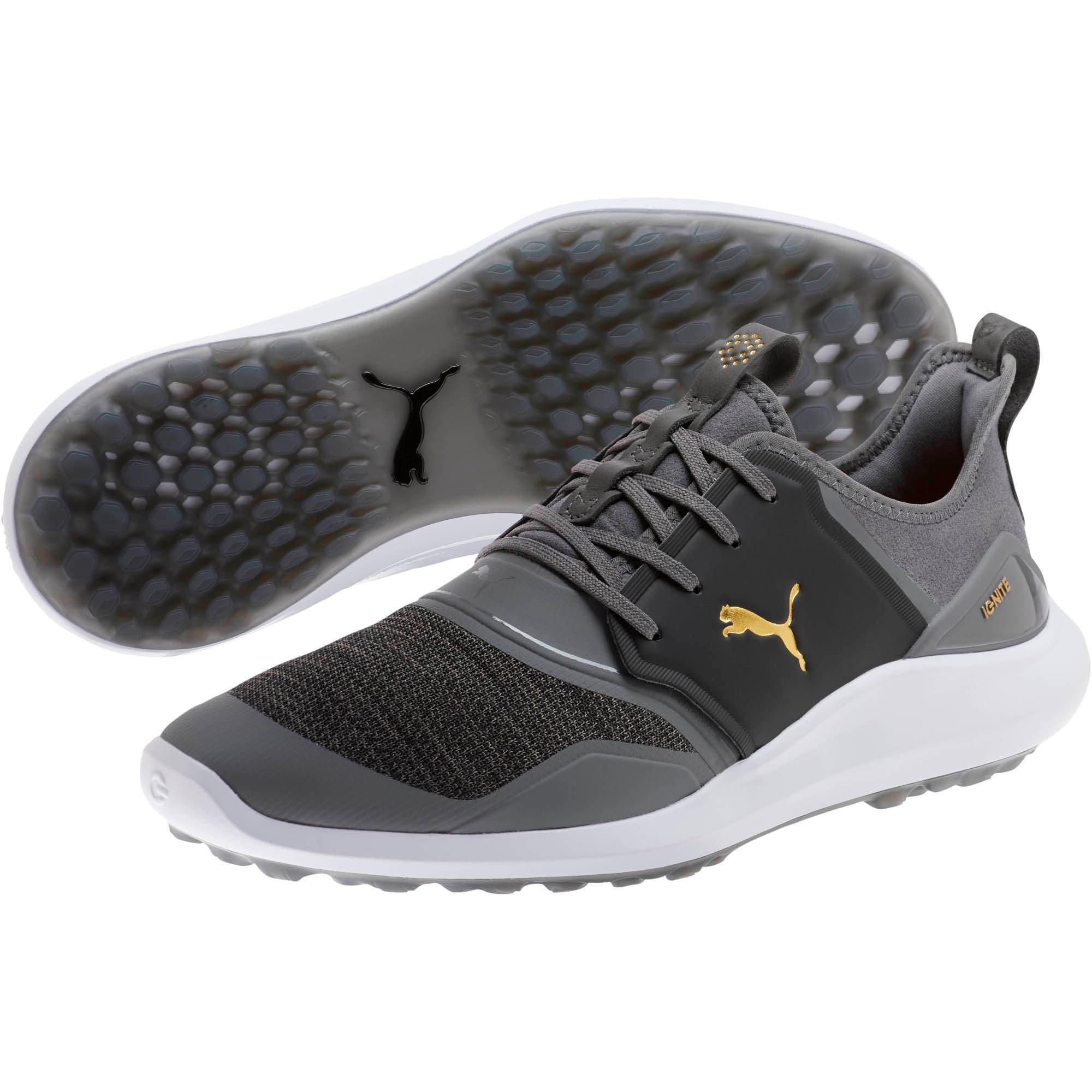 Thumbnail 2 of IGNITE NXT Men's Golf Shoes, QUIET SHADE-Gold-Black, medium
