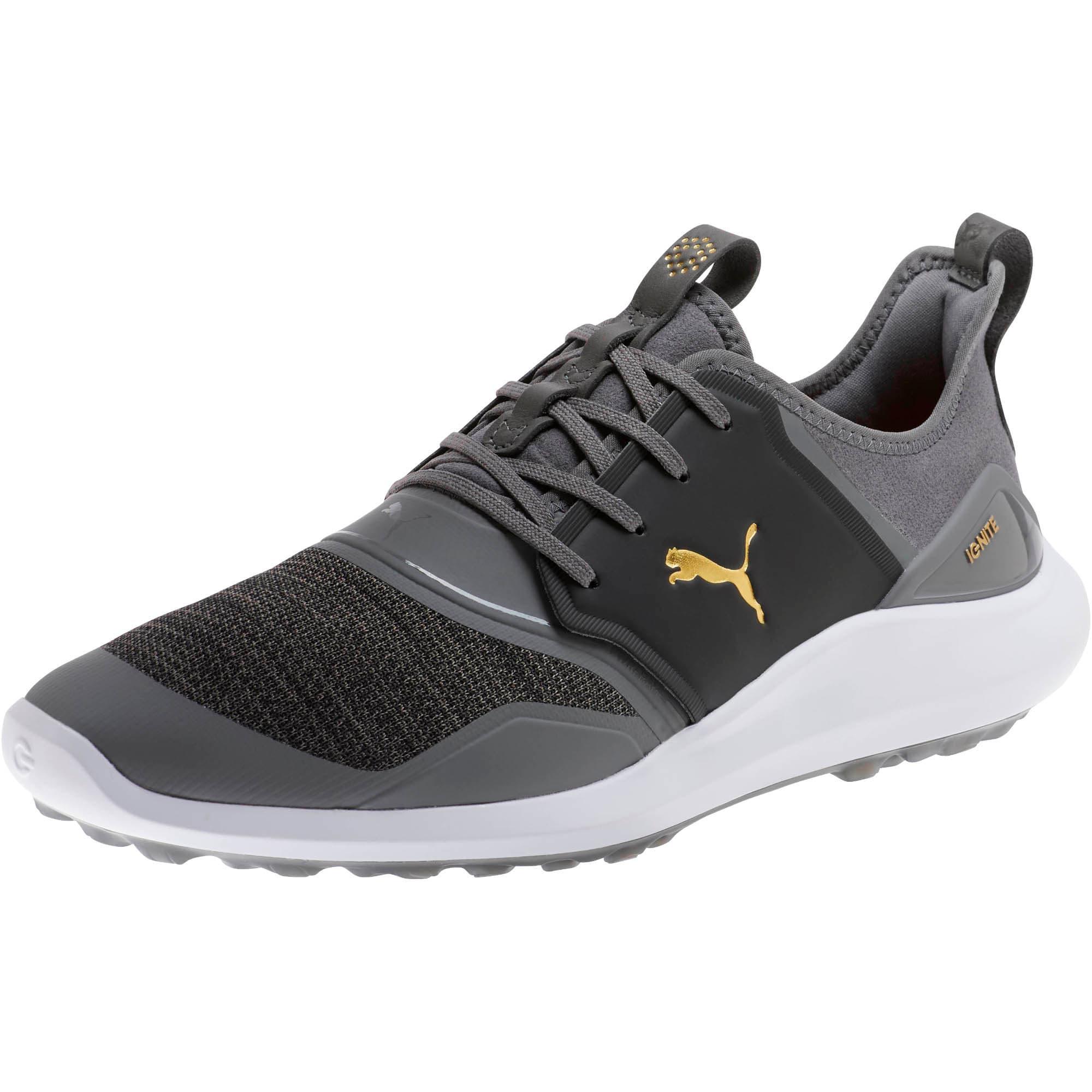 Thumbnail 1 of IGNITE NXT Men's Golf Shoes, QUIET SHADE-Gold-Black, medium