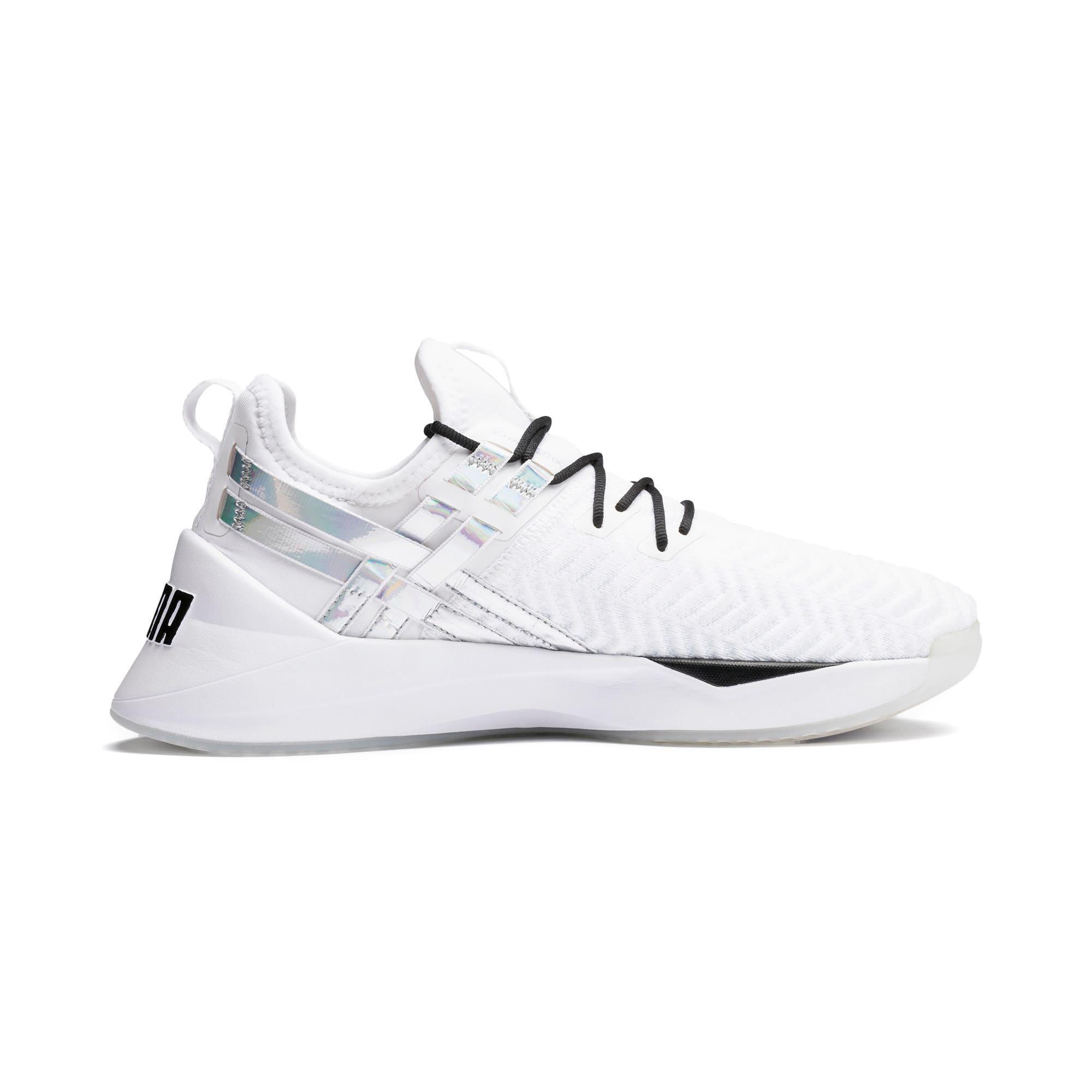 Thumbnail 6 of Jaab XT Iridescent Trailblazer Women's Training Shoes, Puma White-Puma Black, medium