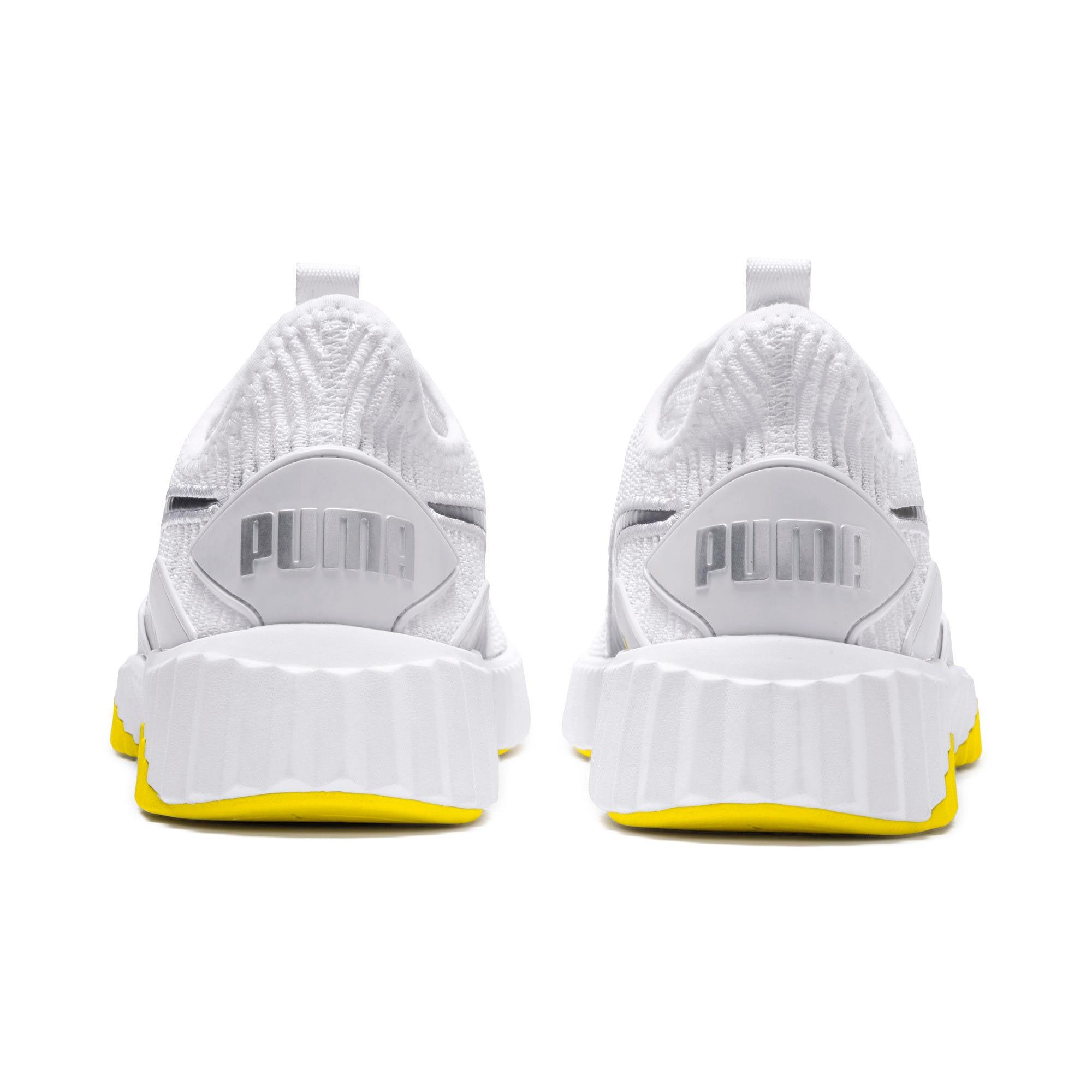 Thumbnail 4 of Defy Trailblazer Women's Training Shoes, Puma White-Blazing Yellow, medium