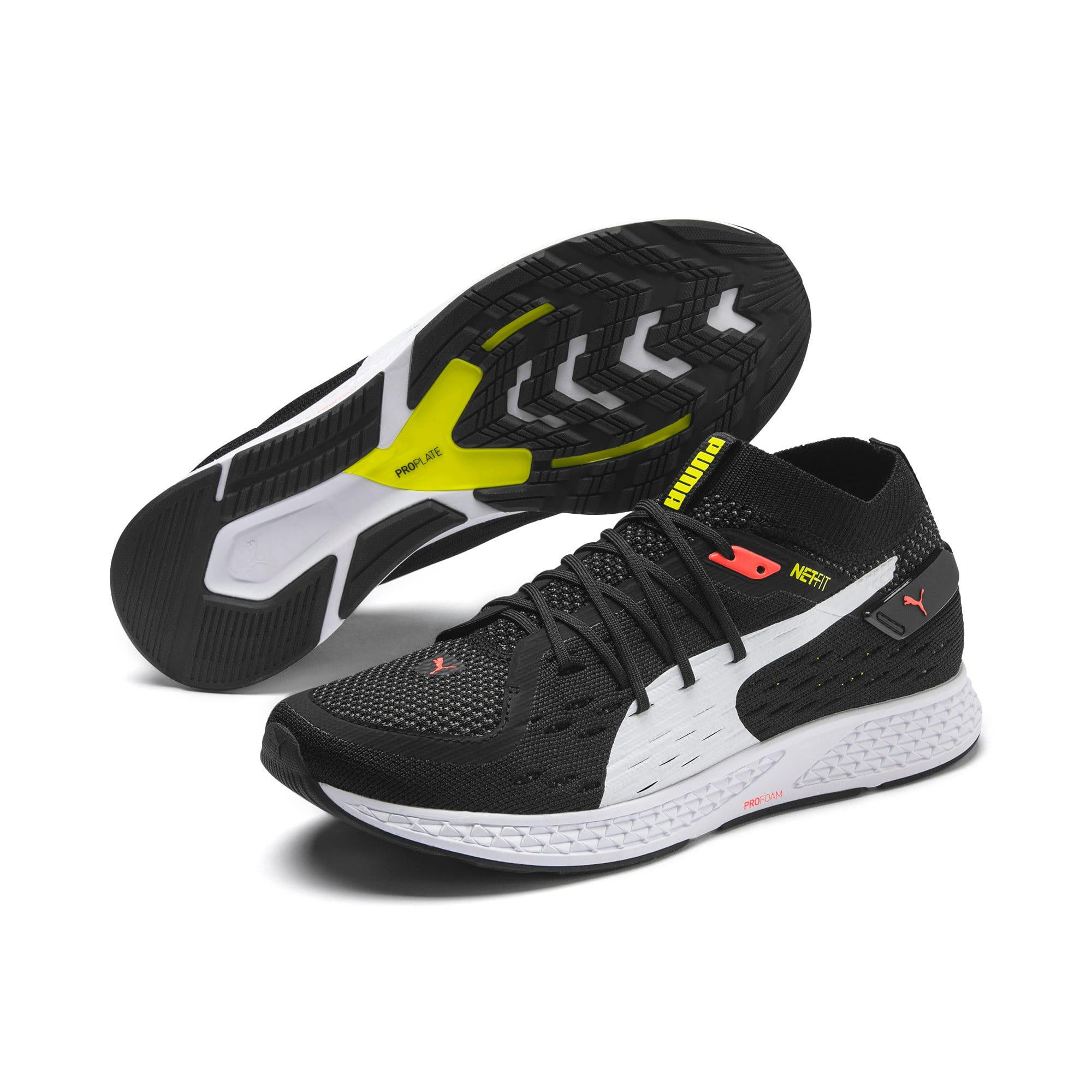 Thumbnail 2 of SPEED 500 Men's Running Shoes, Black-White-Red-Yellow, medium