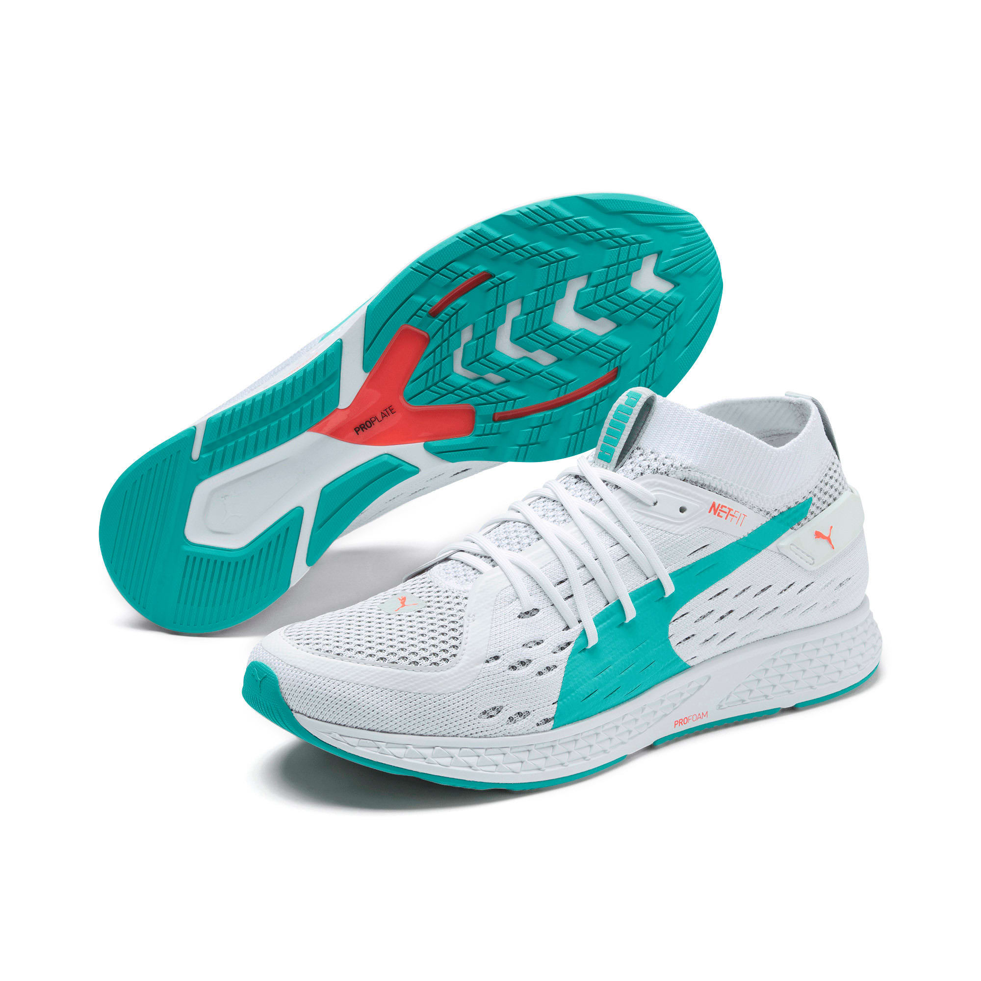 Thumbnail 2 of SPEED 500 Men's Running Shoes, White-Turquoise-Nrgy Red, medium
