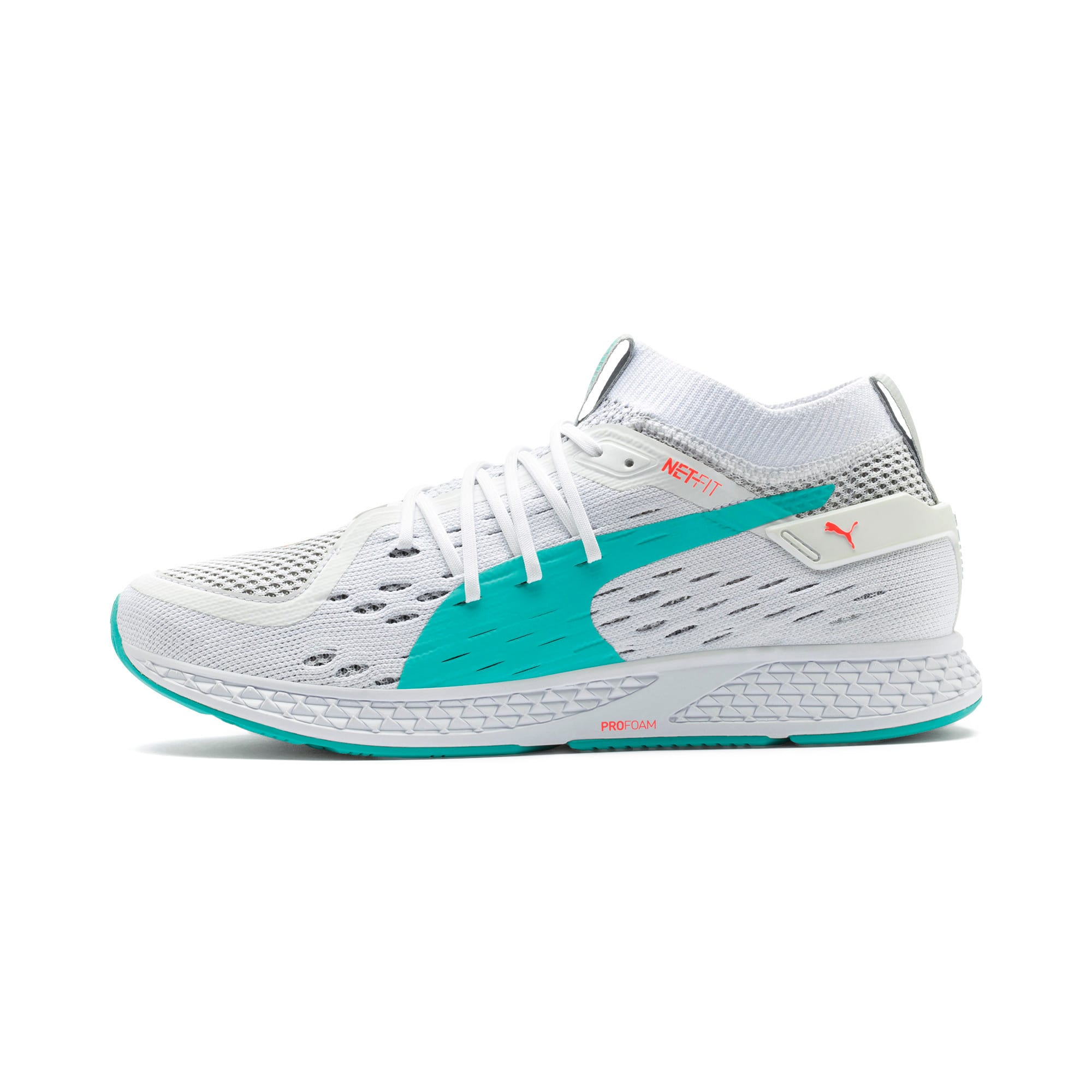 Thumbnail 1 of SPEED 500 Men's Running Shoes, White-Turquoise-Nrgy Red, medium