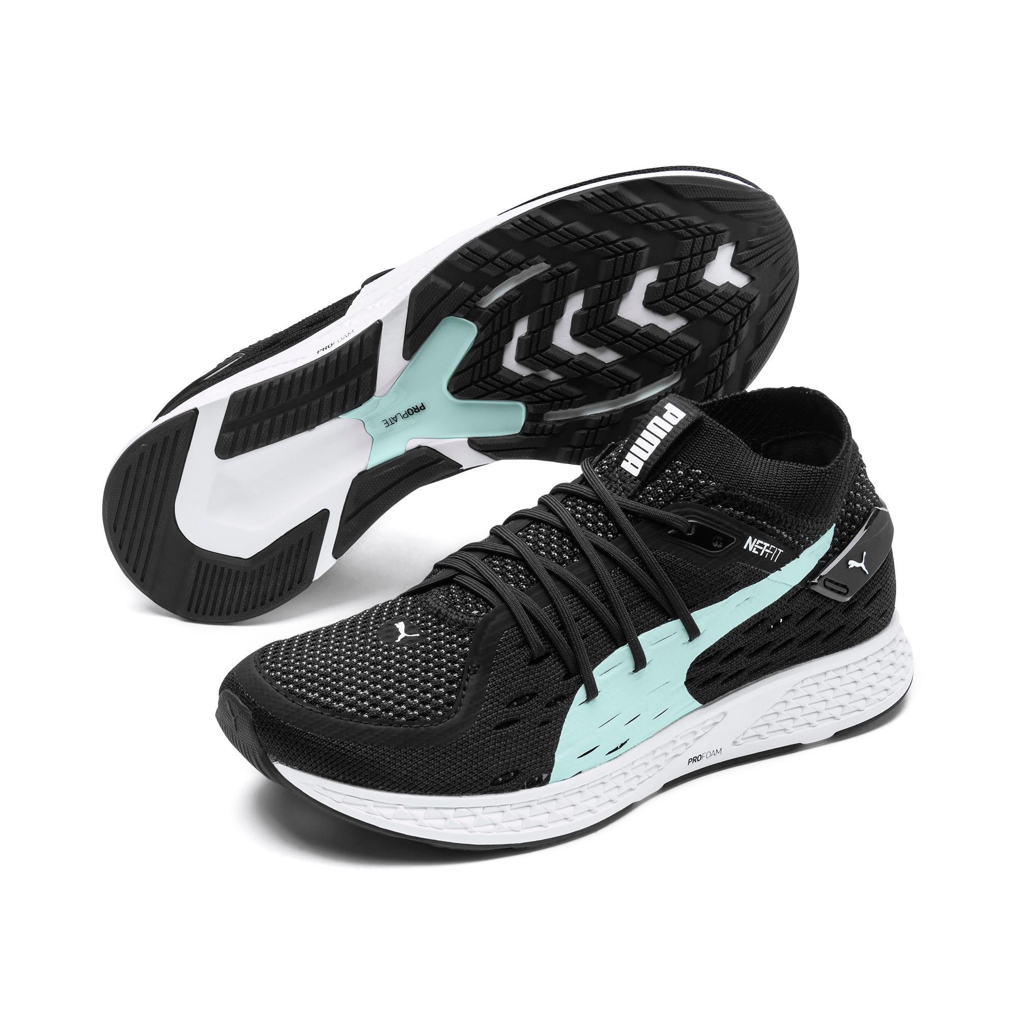 Thumbnail 3 of SPEED 500 Women's Running Shoes, Puma Black-Puma White, medium