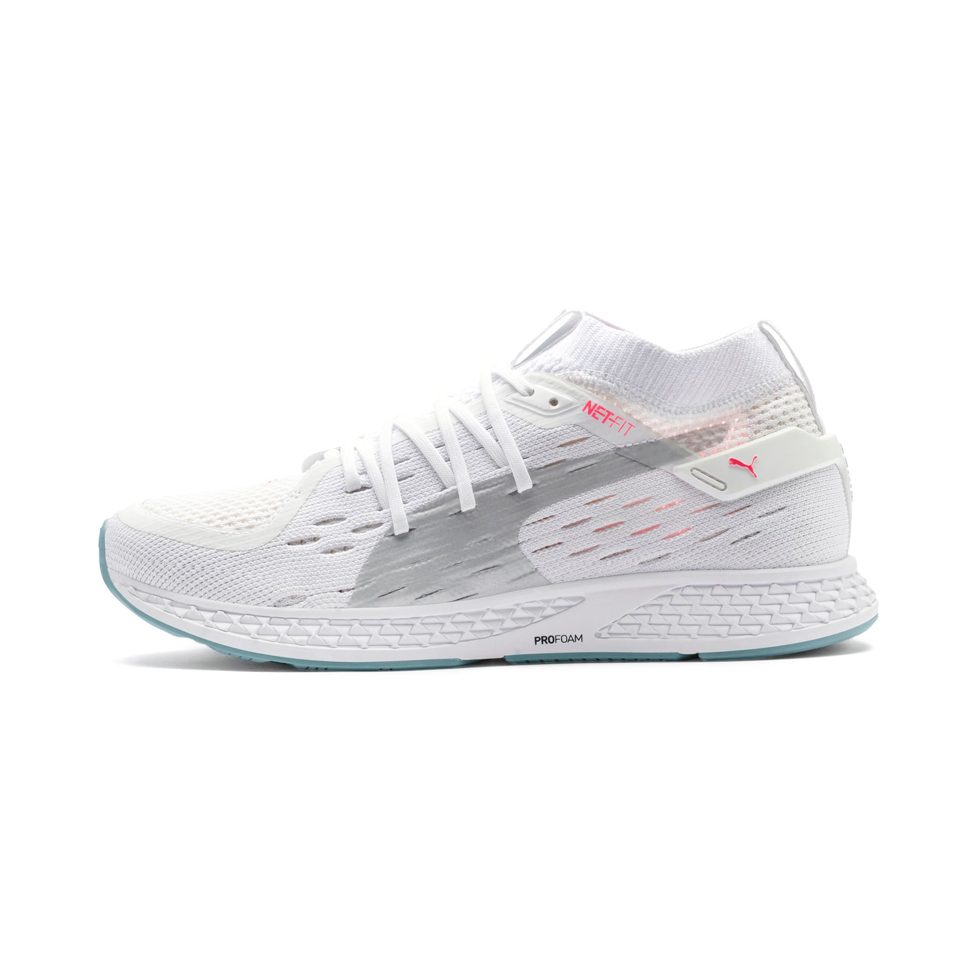 Thumbnail 1 of SPEED 500 Women's Running Shoes, White-Silver-Milky Blue-Pink, medium