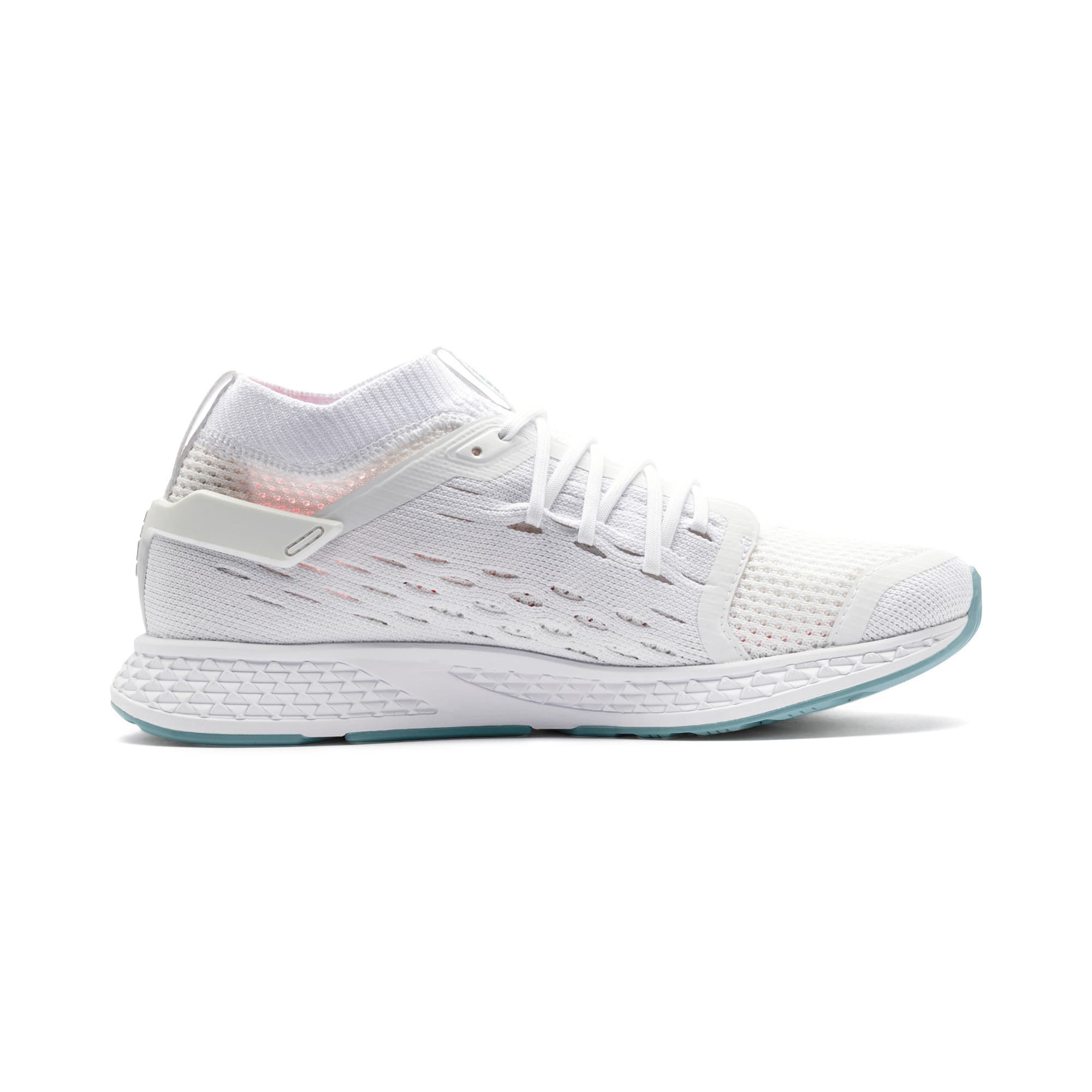 Thumbnail 6 of SPEED 500 Women's Running Shoes, White-Silver-Milky Blue-Pink, medium