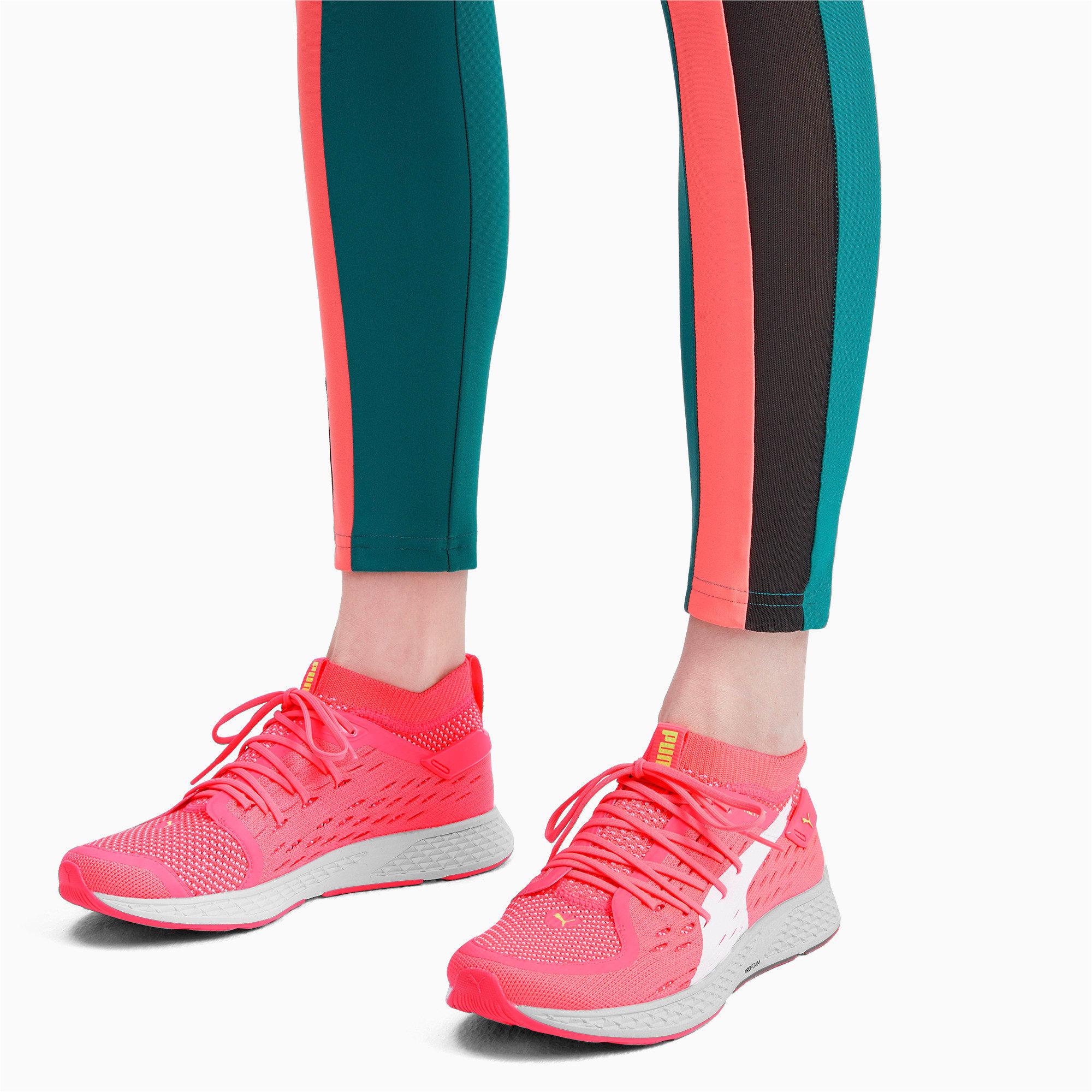 Miniatura 3 de Zapatos para correrSPEED500 para mujer, Pink Alert-White-Yellow, mediano